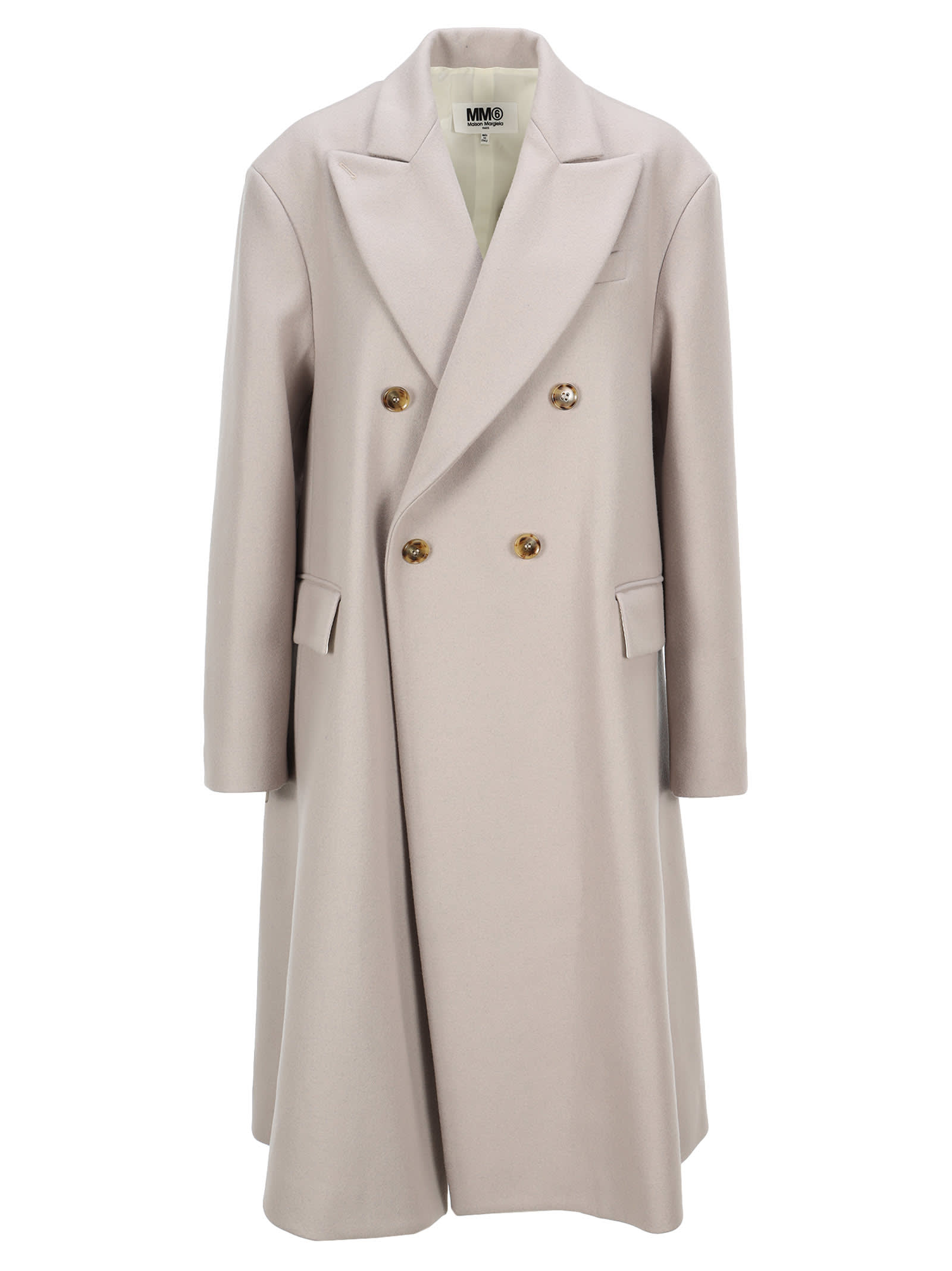 Mm6 Double-breasted Oversized Coat