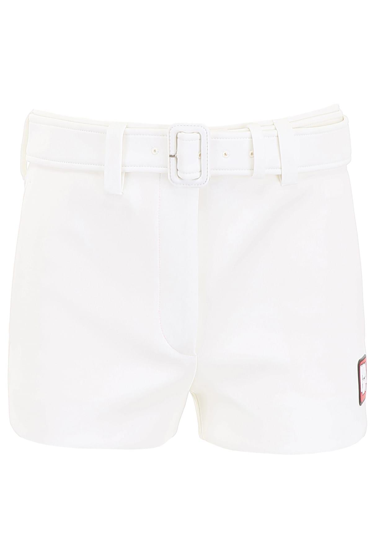 Prada Shorts With Rubber Logo