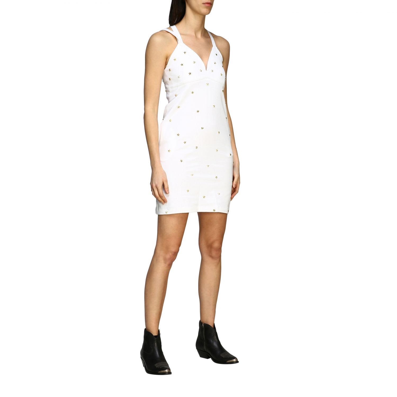 Buy Frankie Morello Dress Frankie Morello Cotton Dress With Stars online, shop Frankie Morello with free shipping