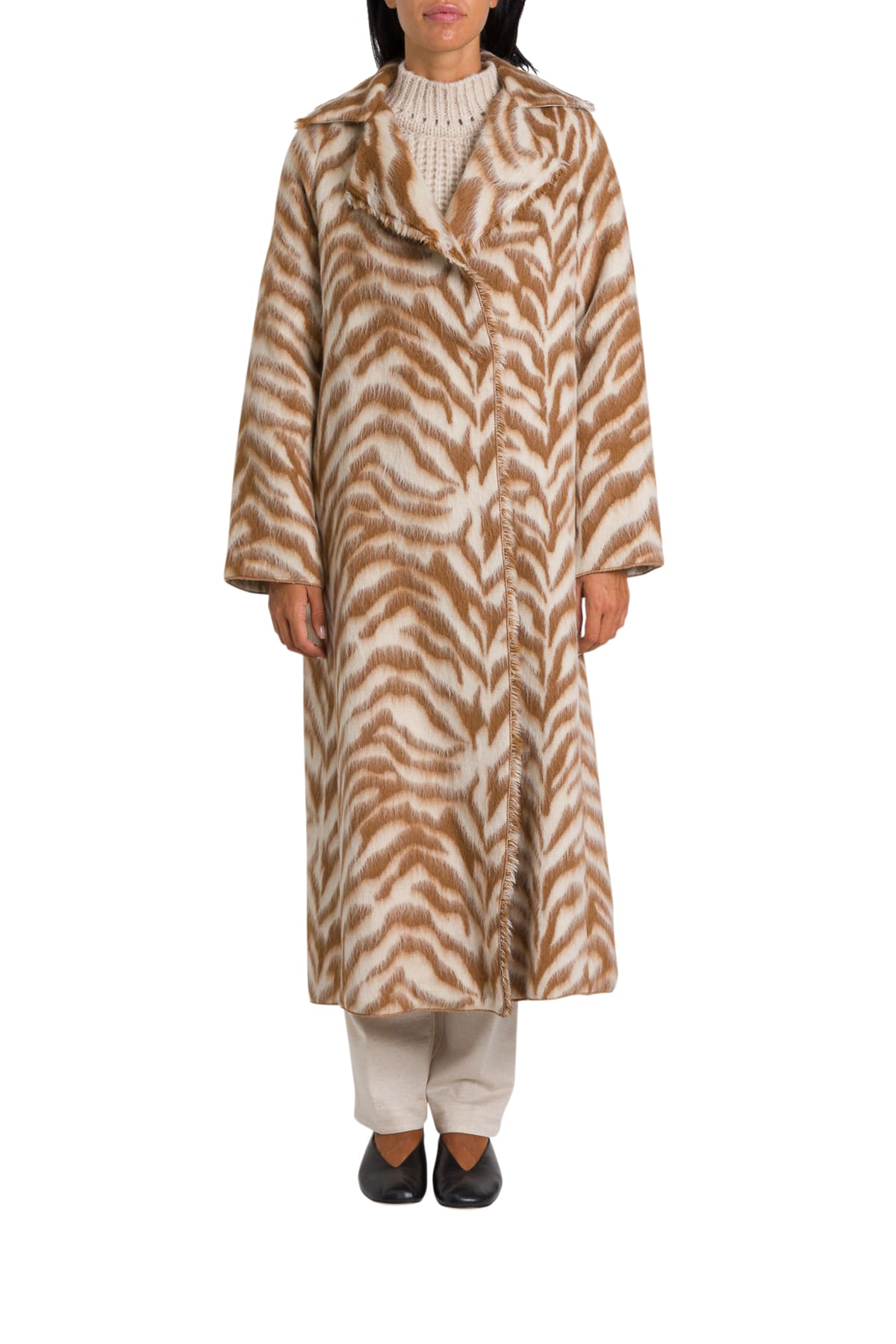 Forte Forte Zebra Pattern Long Coat