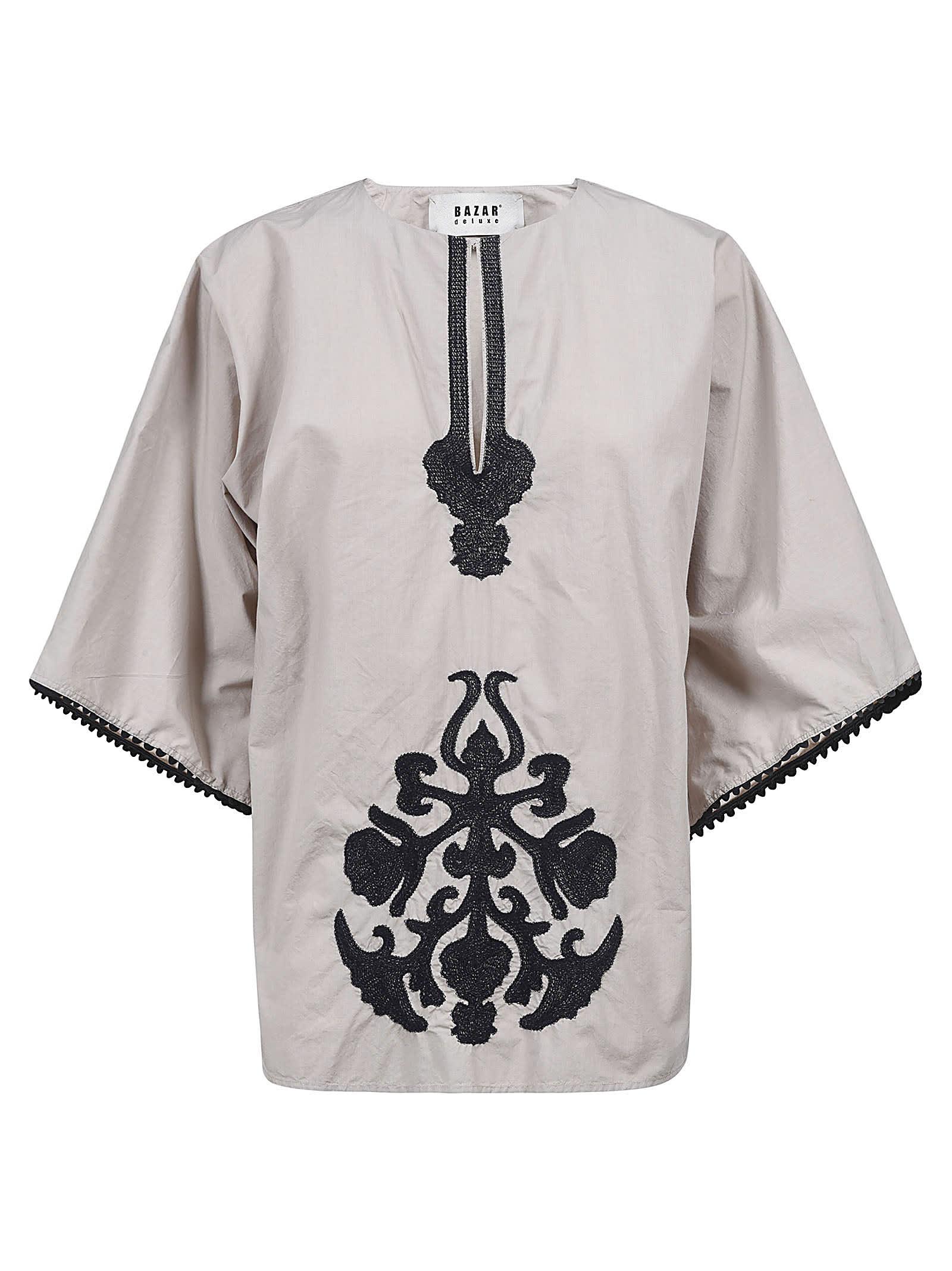 Bazar Deluxe Pattern Embellished Top In Beige