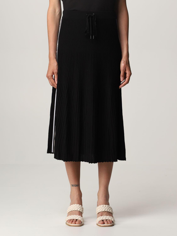 Michael Michael Kors Skirt  Pleated Jogging Skirt In Black