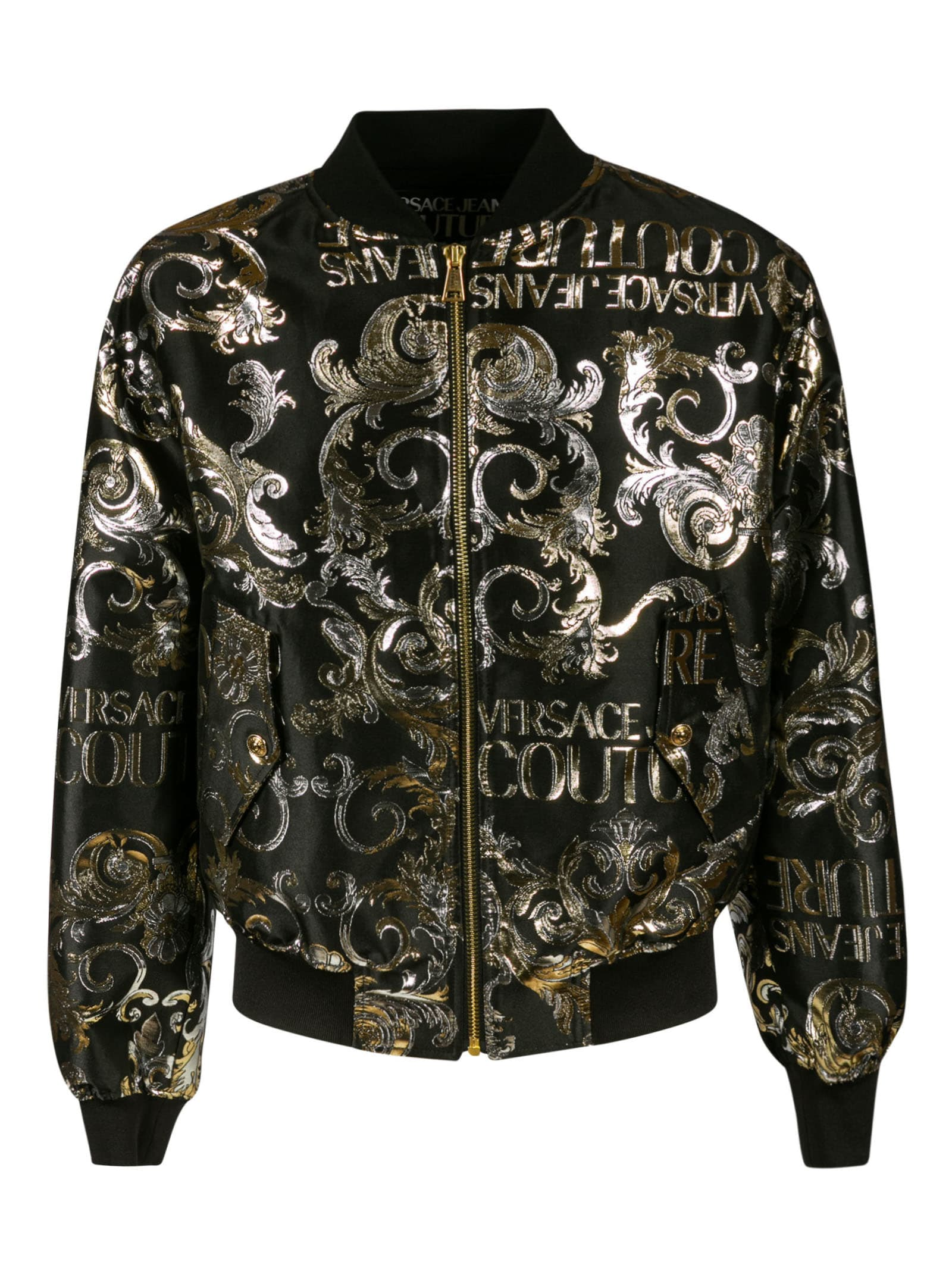 Versace Jeans Couture Cottons METALLIC PRINT BOMBER