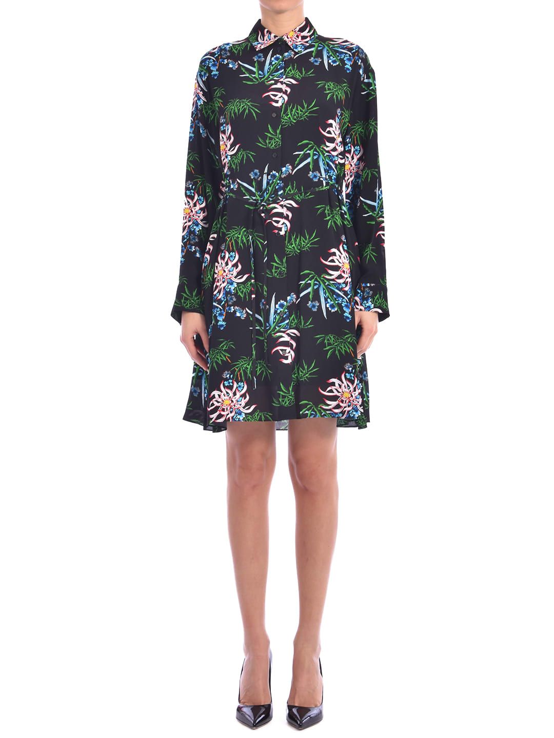 Buy Kenzo sea Lily Shirt Dress online, shop Kenzo with free shipping