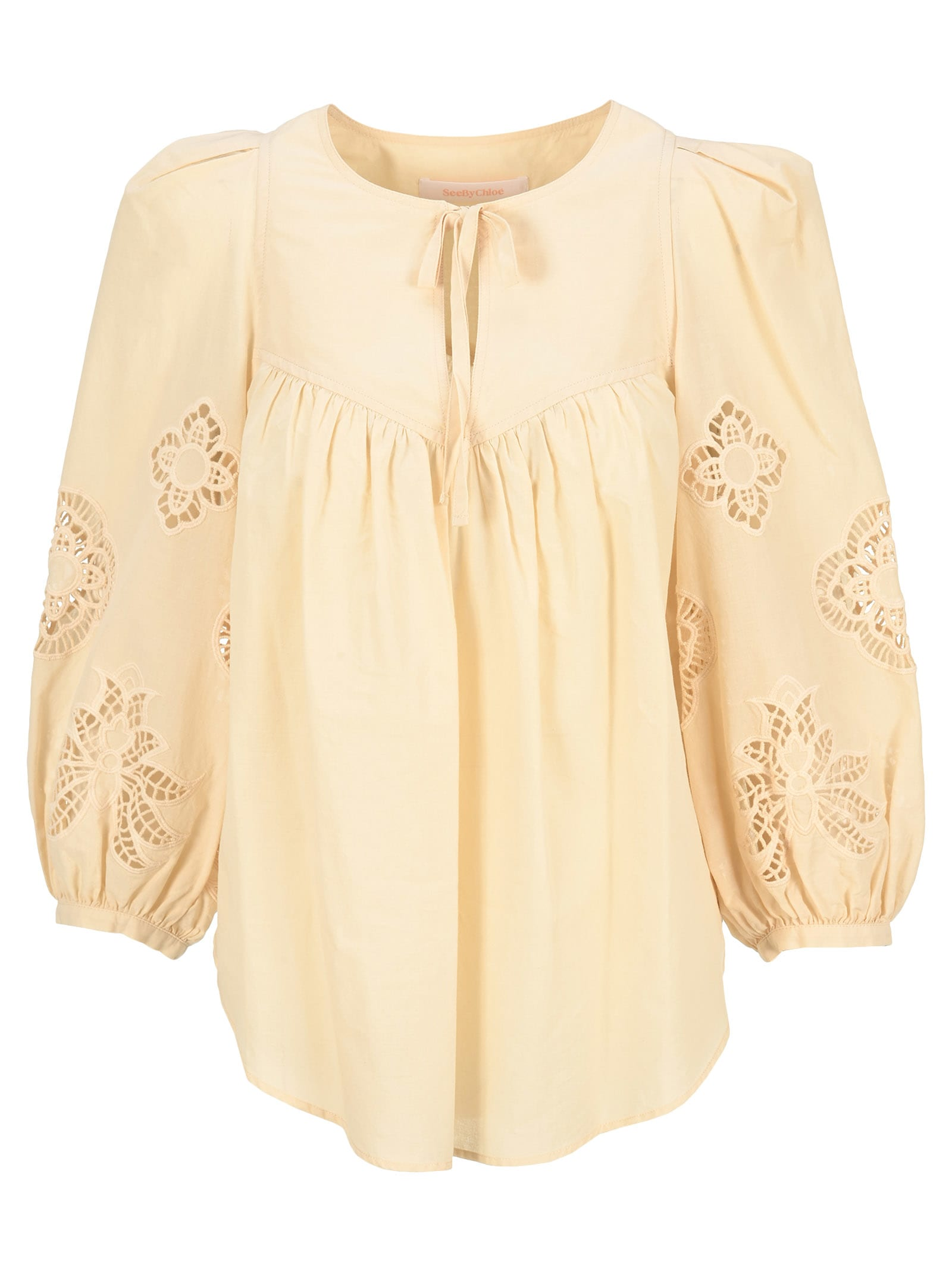 See By Chloé Cottons SEE BY CHLOE GUIPURE BLOUSE