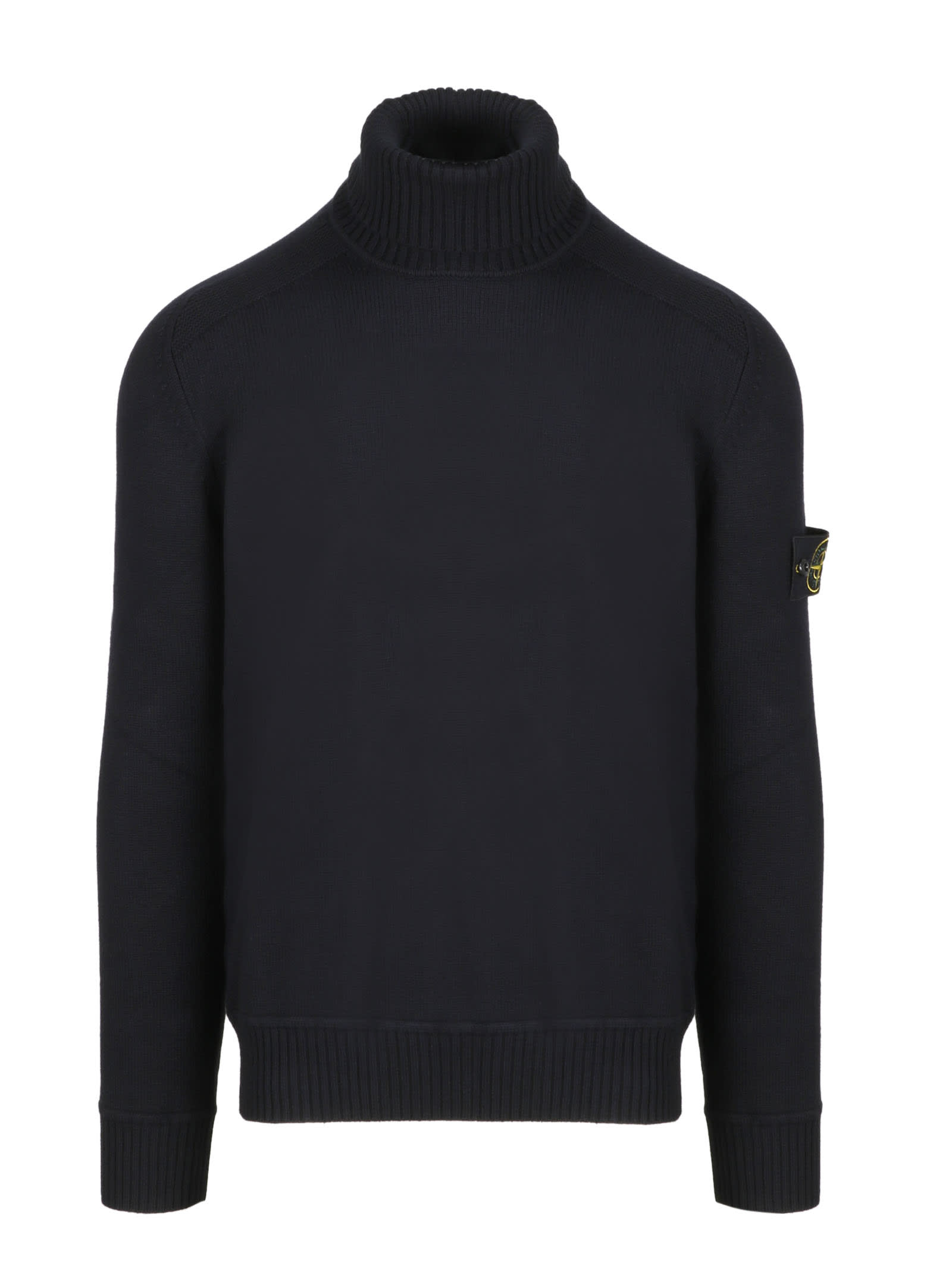 Stone Island Patch Logo Turtleneck