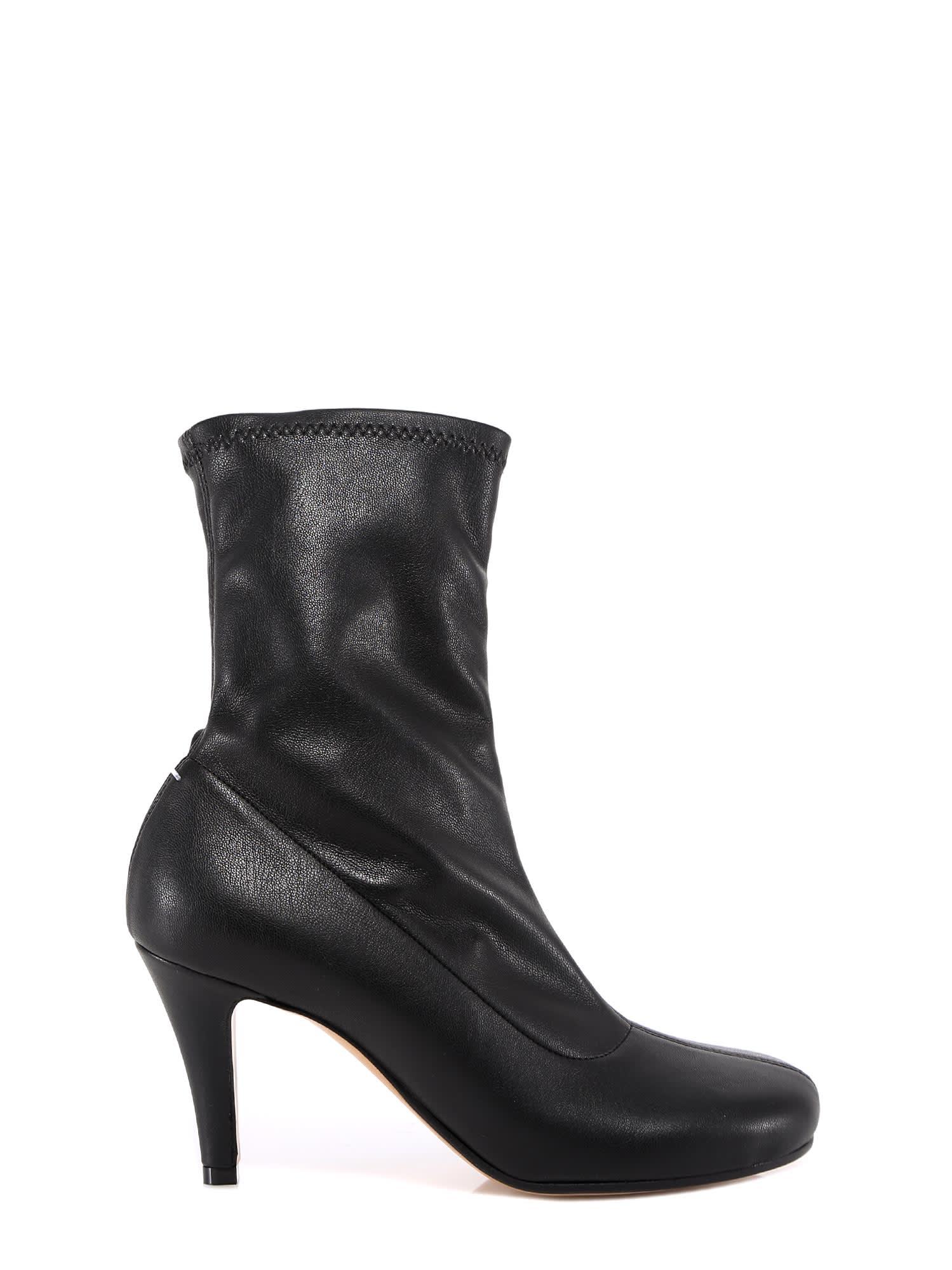 Buy Maison Margiela Leather Sock Boots online, shop Maison Margiela shoes with free shipping