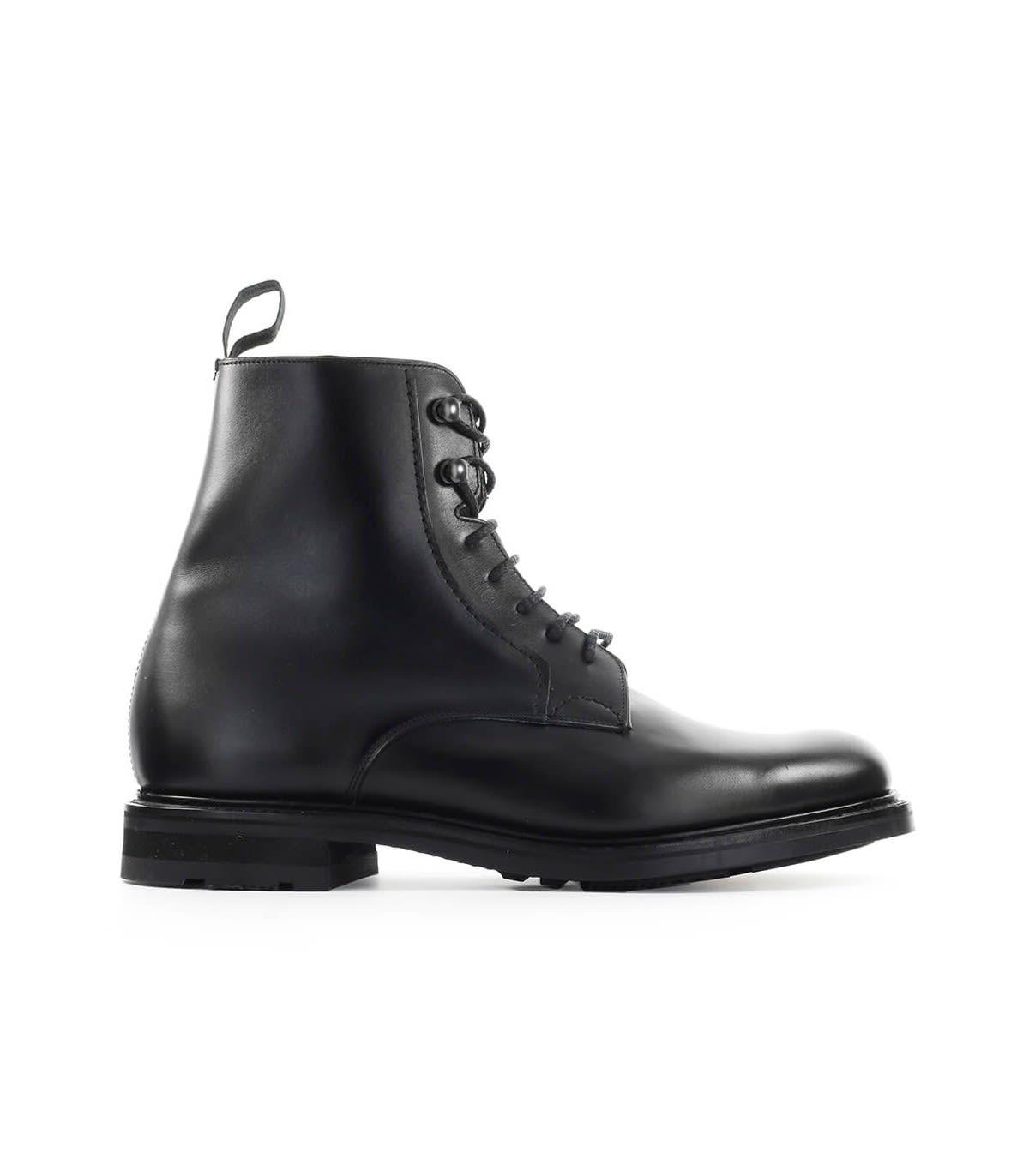 Churchs Wootton Natural Calf Black Bovver Boot