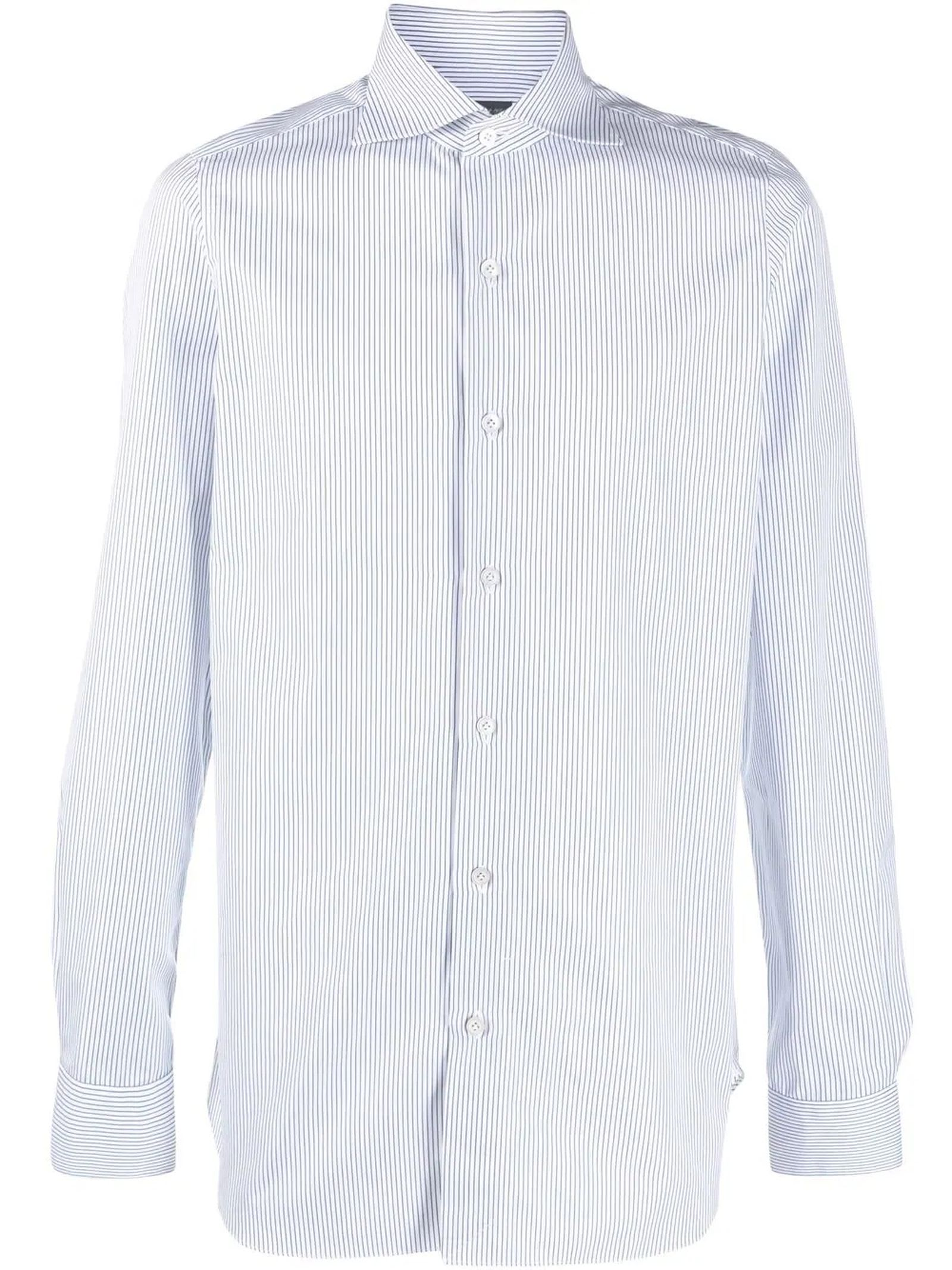 White And Blue Cotton Shirt