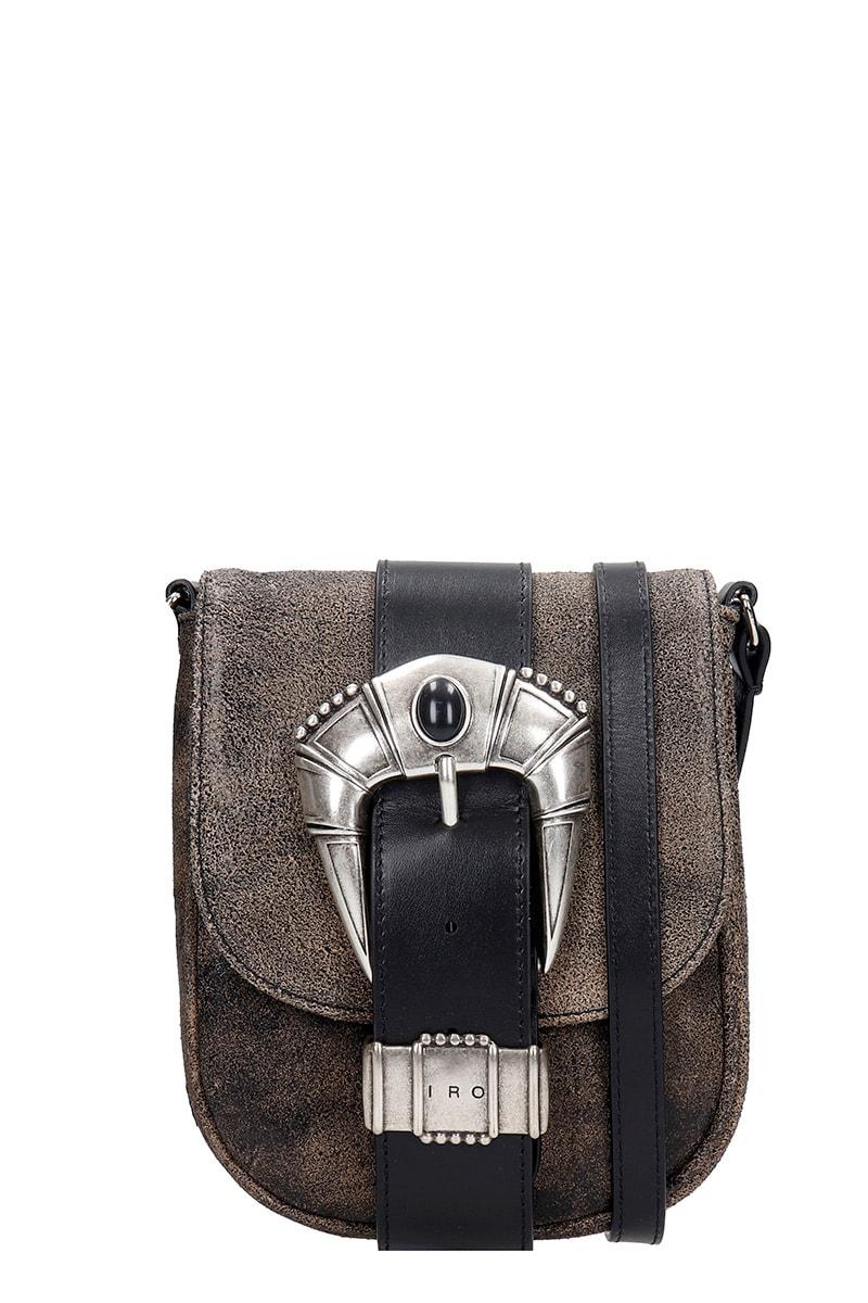 Iro Leathers LEMMY SHOULDER BAG IN BLACK LEATHER