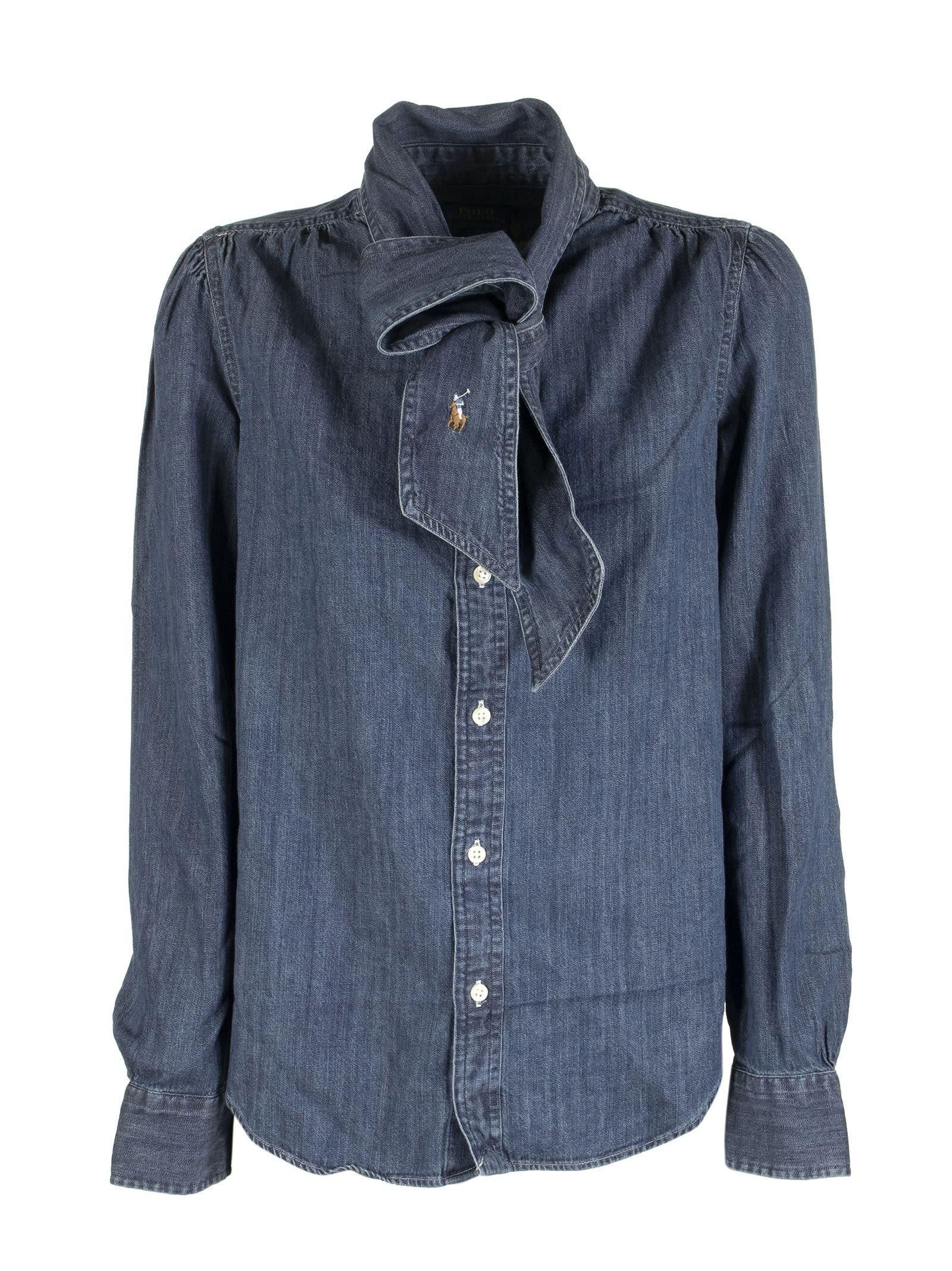 Ralph Lauren Necktie Denim Shirt