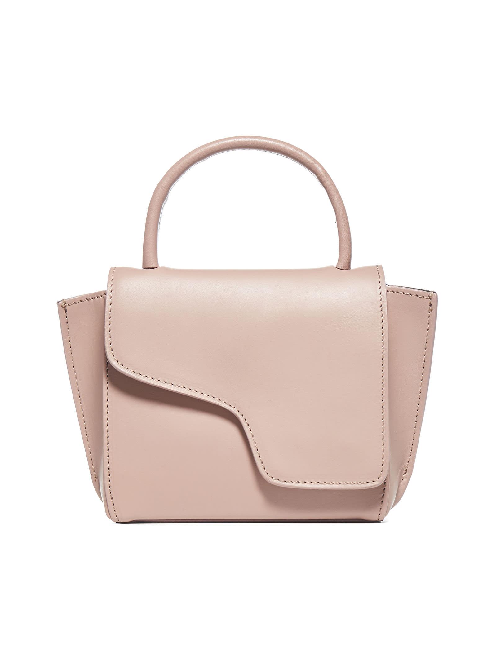 Atp Atelier Montalcino Mini Calfskin Bag In Khaki Rose