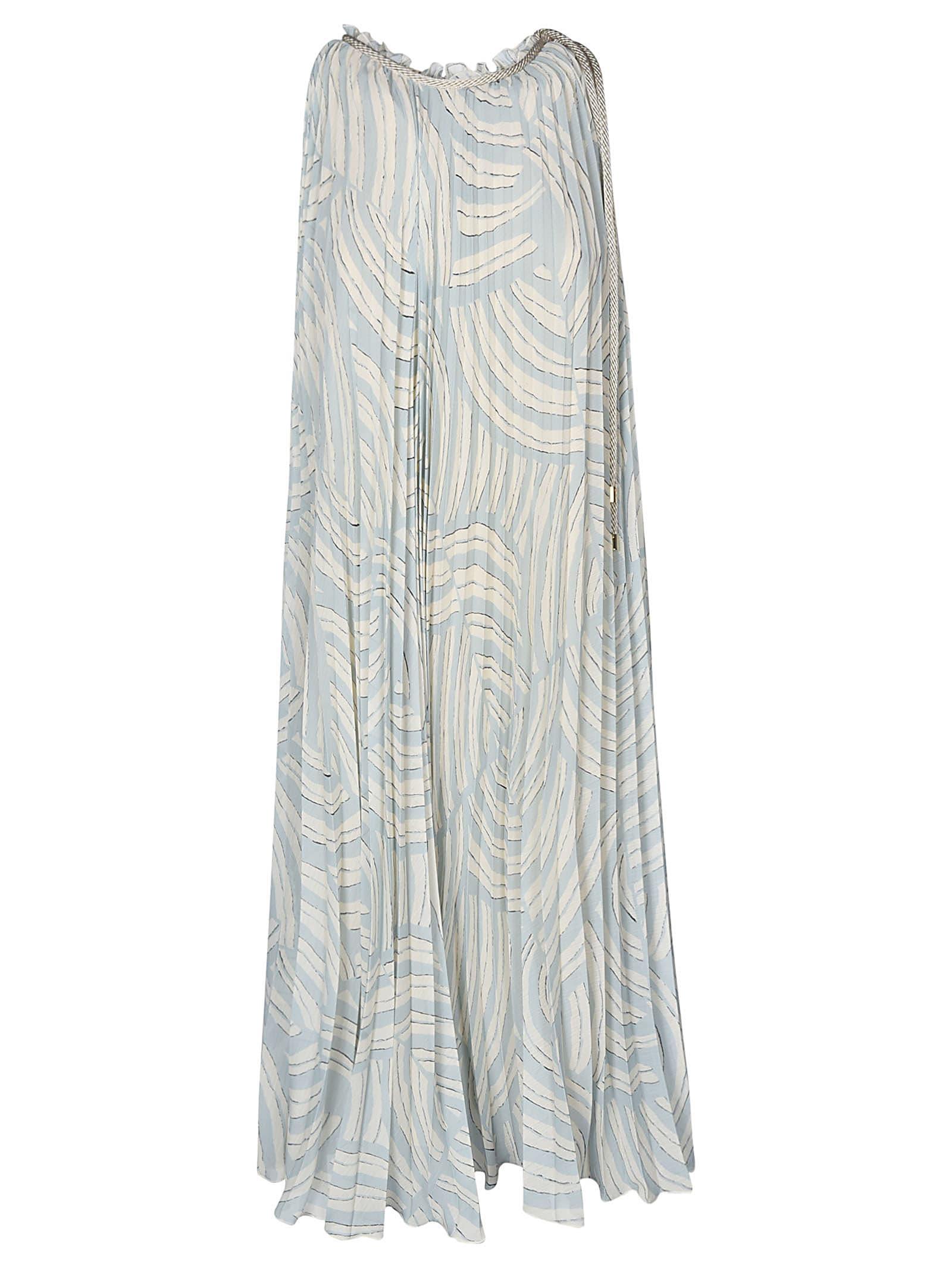 Buy Erika Cavallini Pleated Printed Sleeveless Dress online, shop Erika Cavallini with free shipping