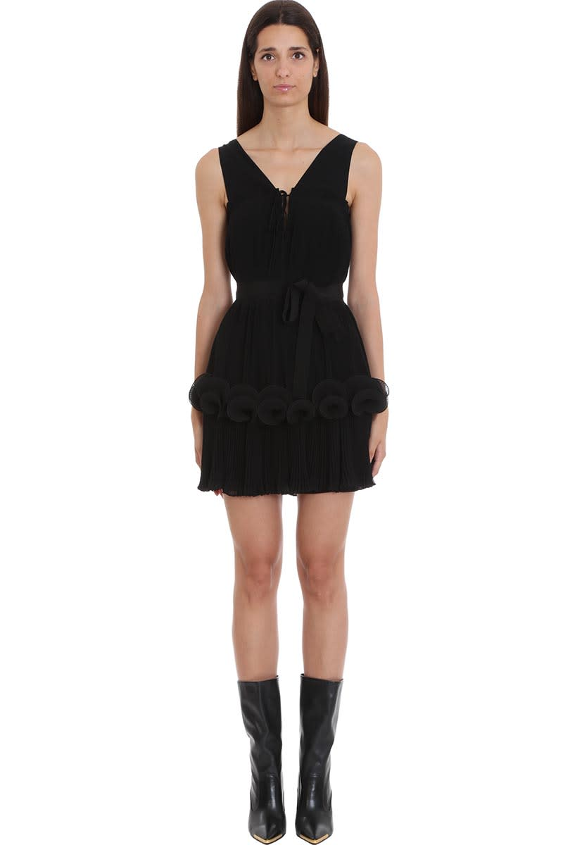 Stella McCartney Grace Dress In Black Silk