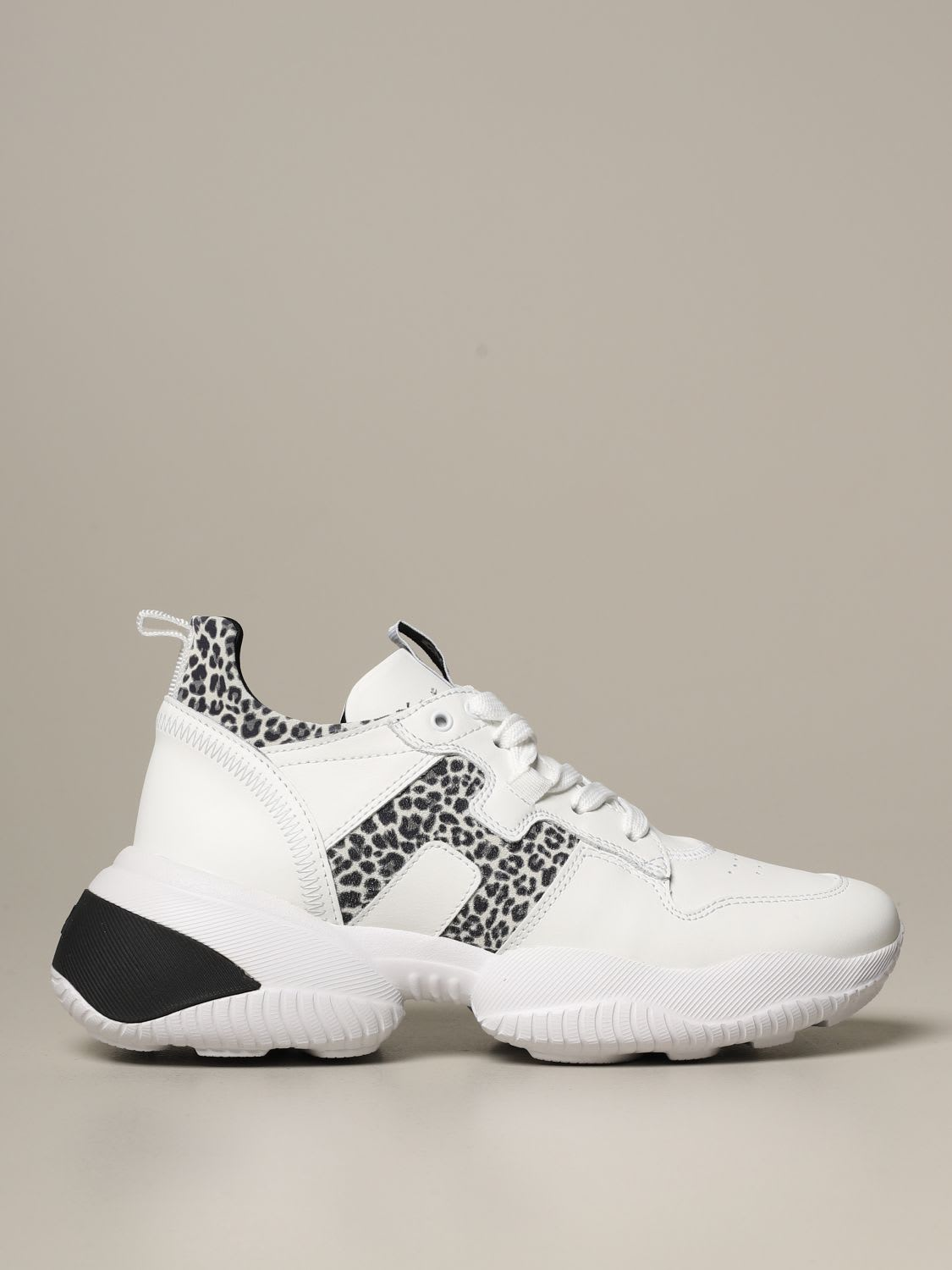 Hogan Sneakers Interaction Hogan X Giglio.com Sneakers In Animalier Leather And Suede