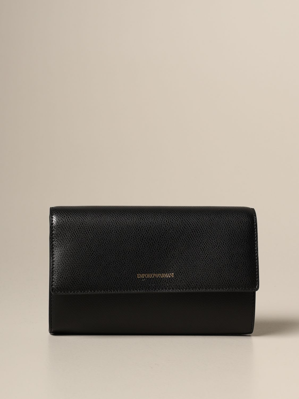 Emporio Armani Crossbody Bags Emporio Armani Shoulder Bag In Textured Synthetic Leather