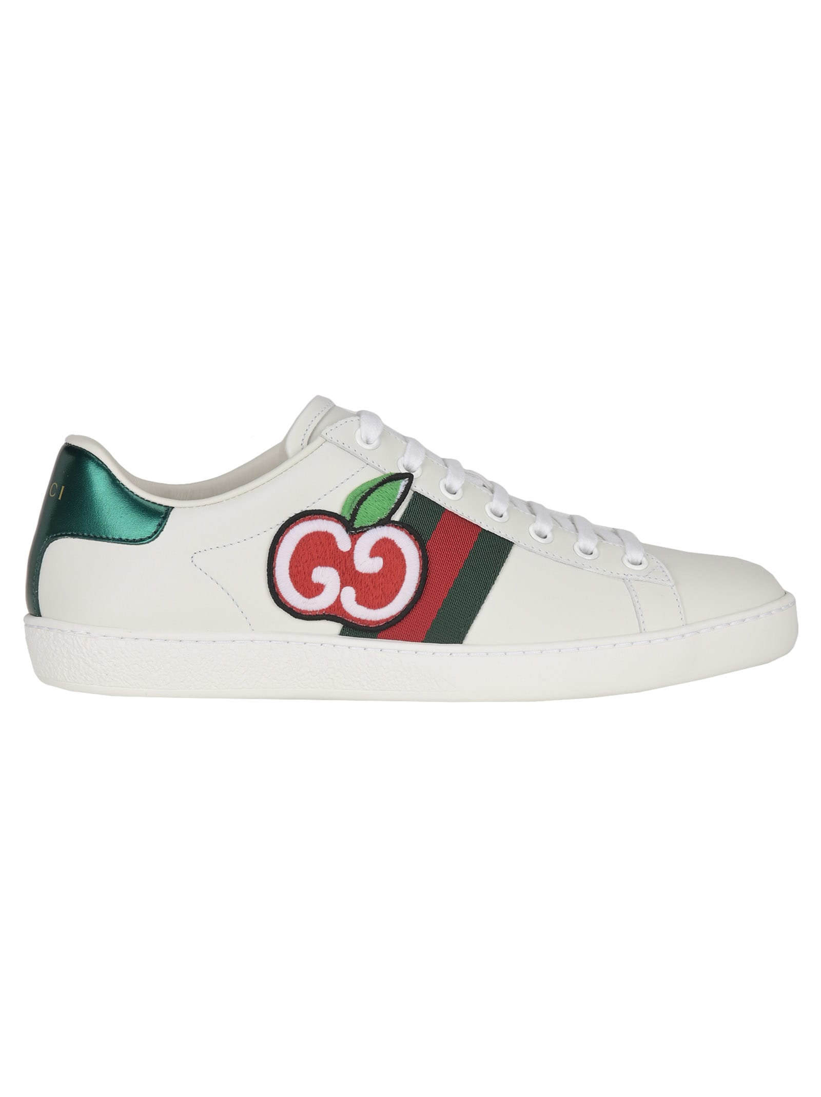 Gucci Ace Sneaker With Gg Apple