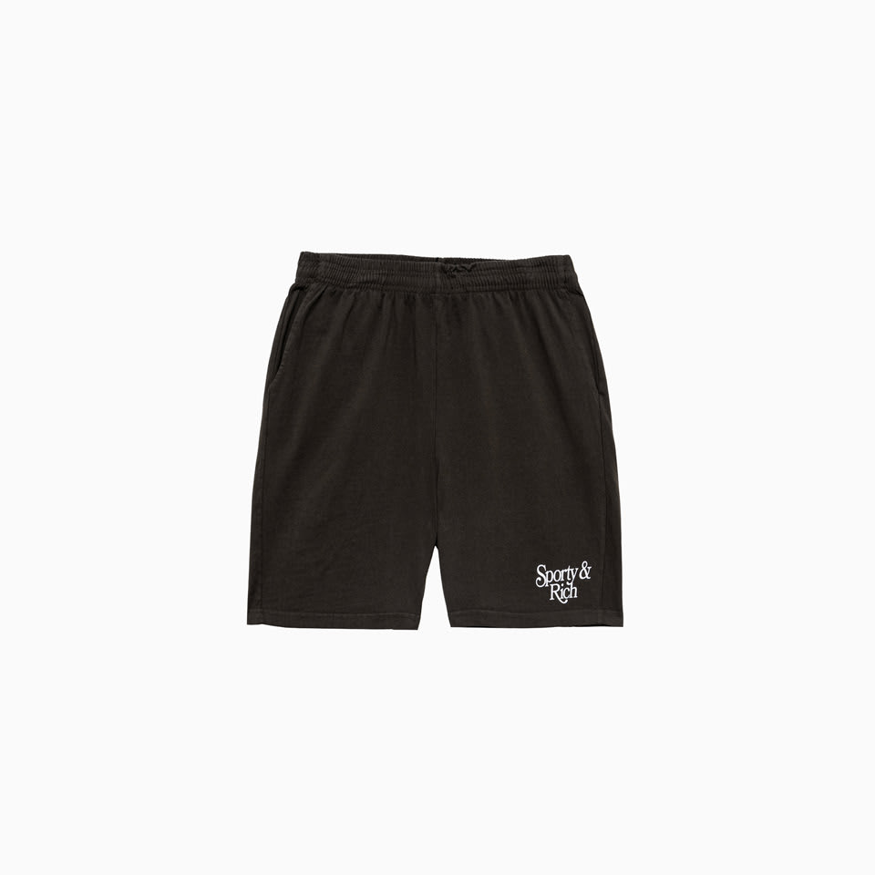 Sporty And Rich Bardot Gym Shorts Sh261ch In Chocolate
