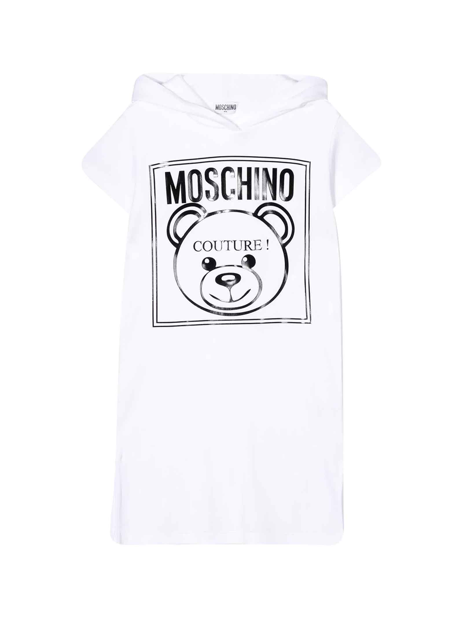 Buy Moschino White Sleeveless Dress online, shop Moschino with free shipping