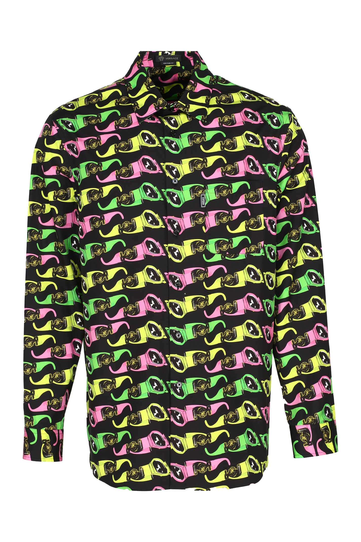 Versace Printed Poplin Shirt