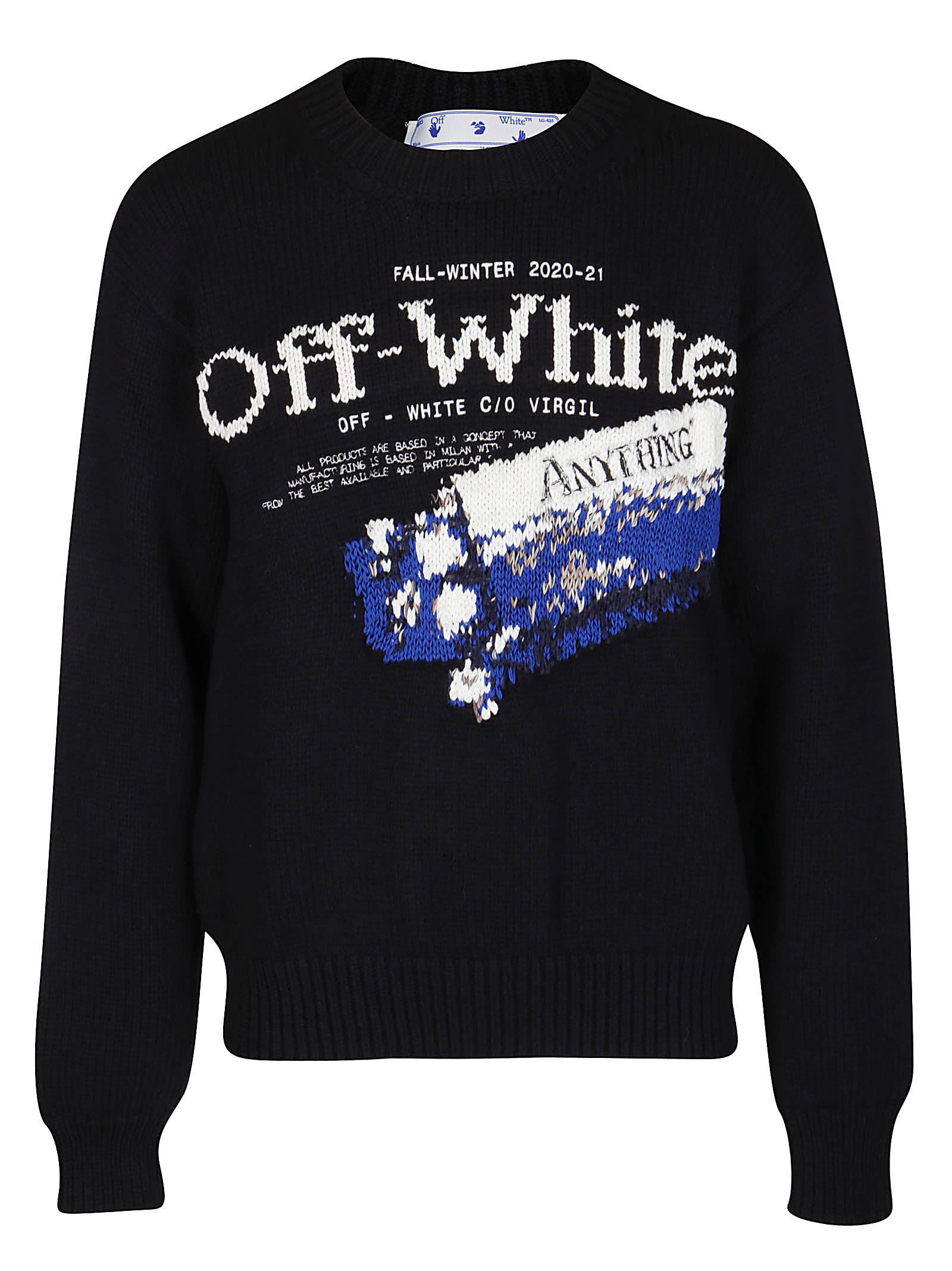 Off-White Black Wool-blend Pascal Medicine Jumper