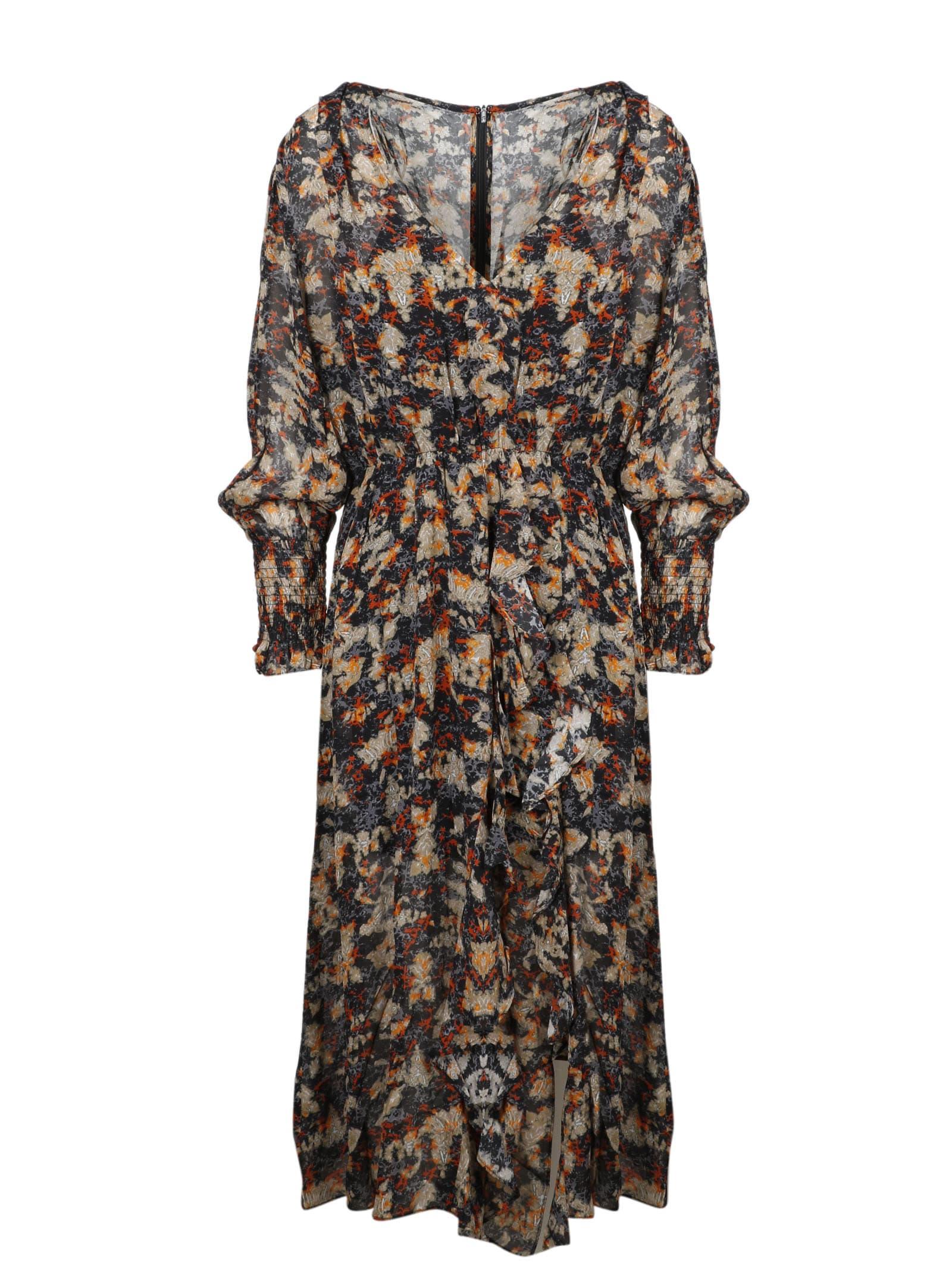 Buy IRO Printed Chiffon Long Dress online, shop IRO with free shipping