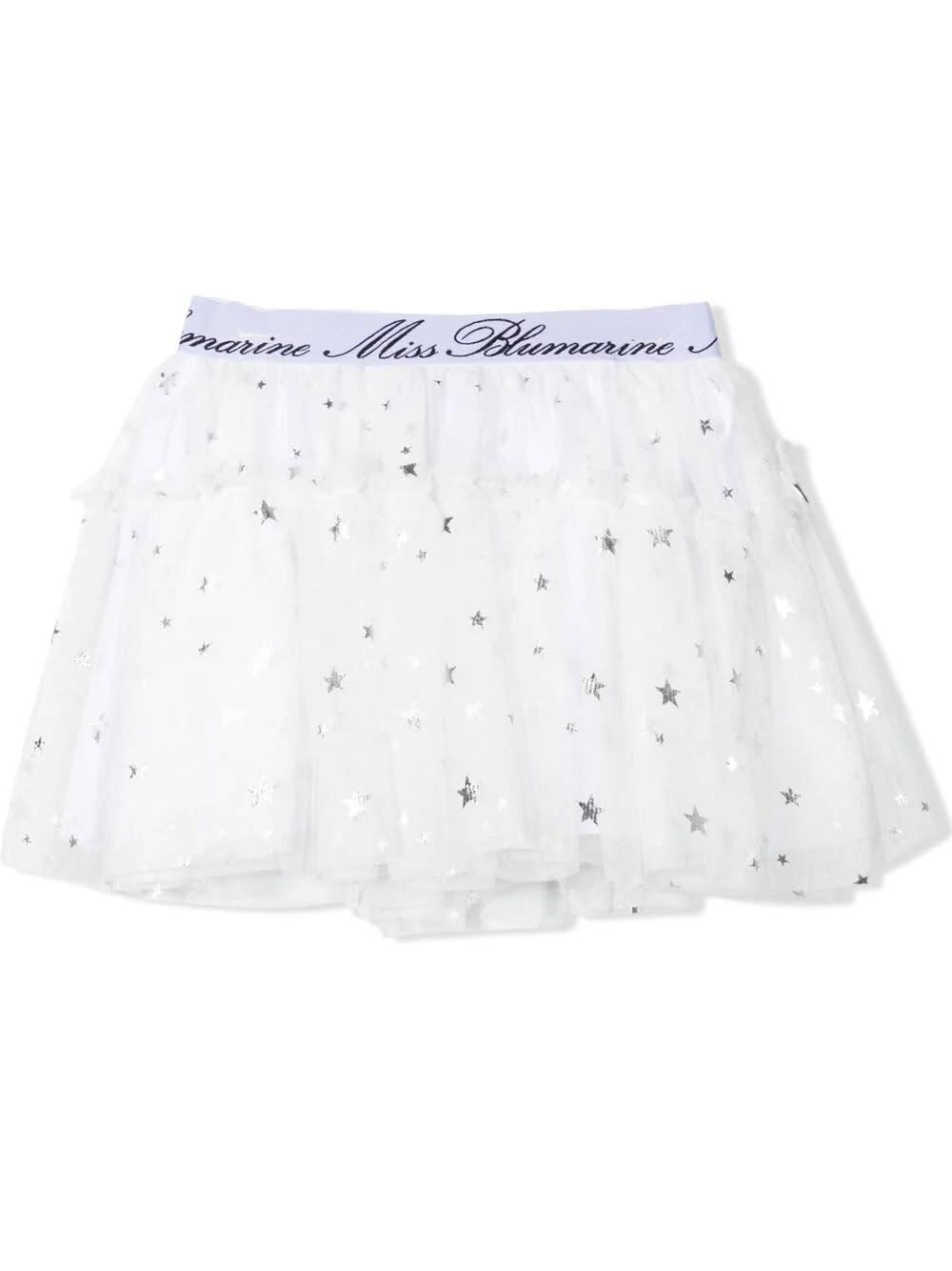 Skirt In White Tulle