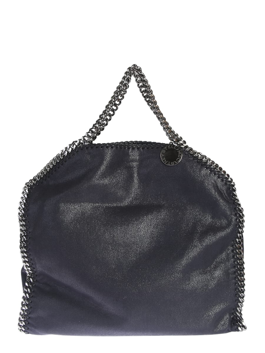 Stella McCartney Blue Falabella Triple Chain Bag