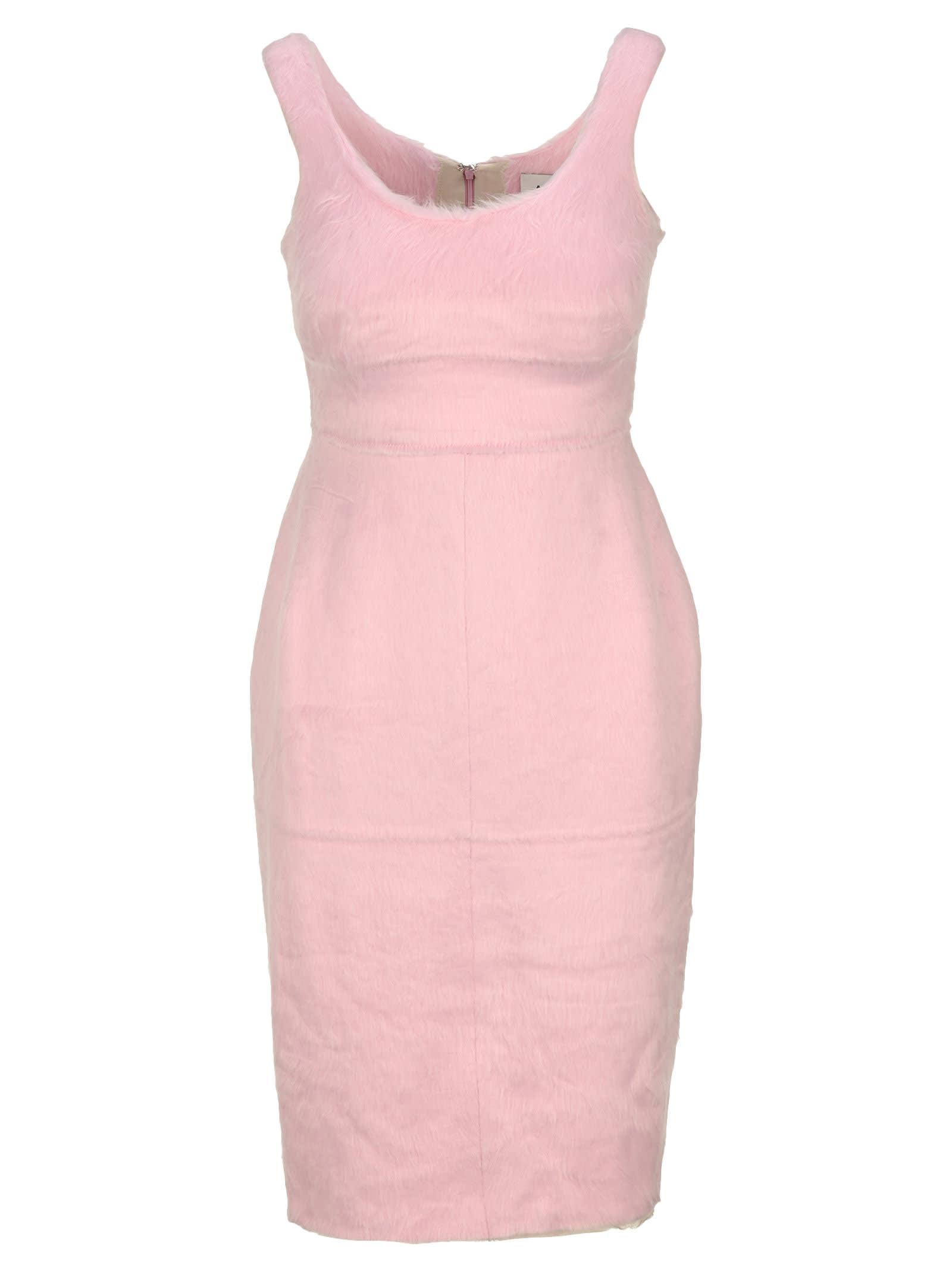 Buy Ambush Faux Fur Dress online, shop AMBUSH with free shipping