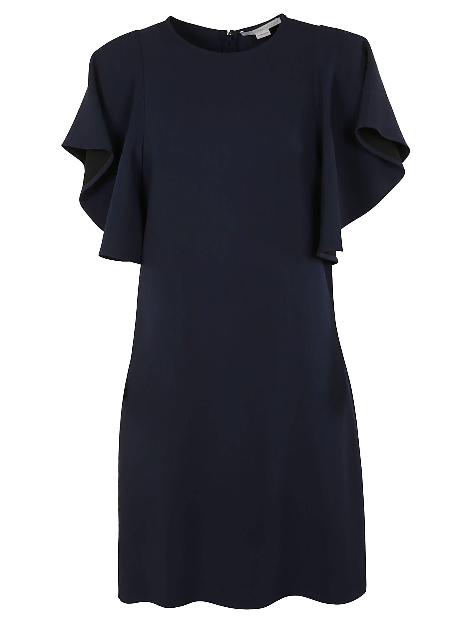Stella Mccartney RUFFLE SLEEVED PLAIN DRESS