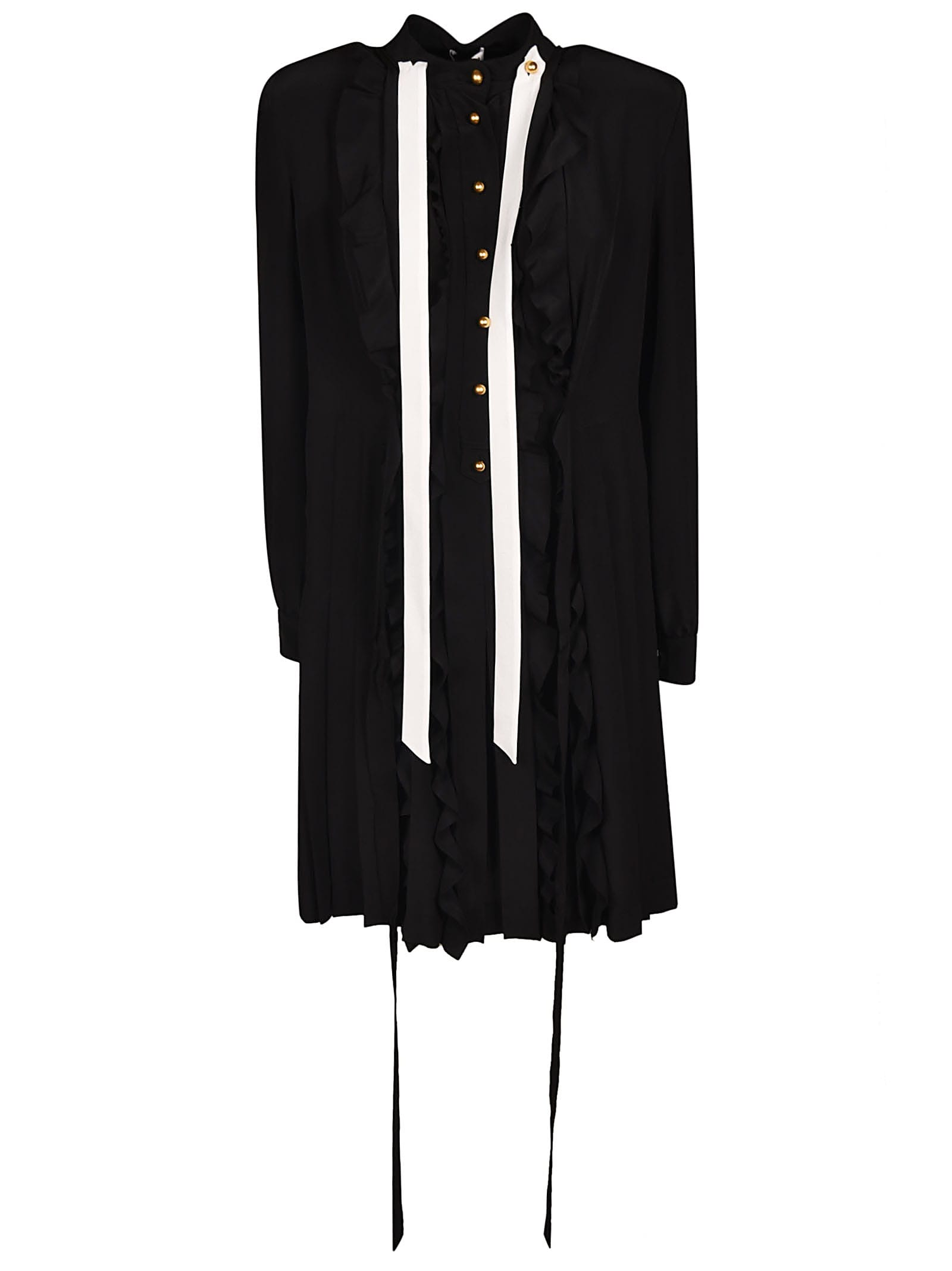 Miu Miu Mid-length Crepe Detail Dress