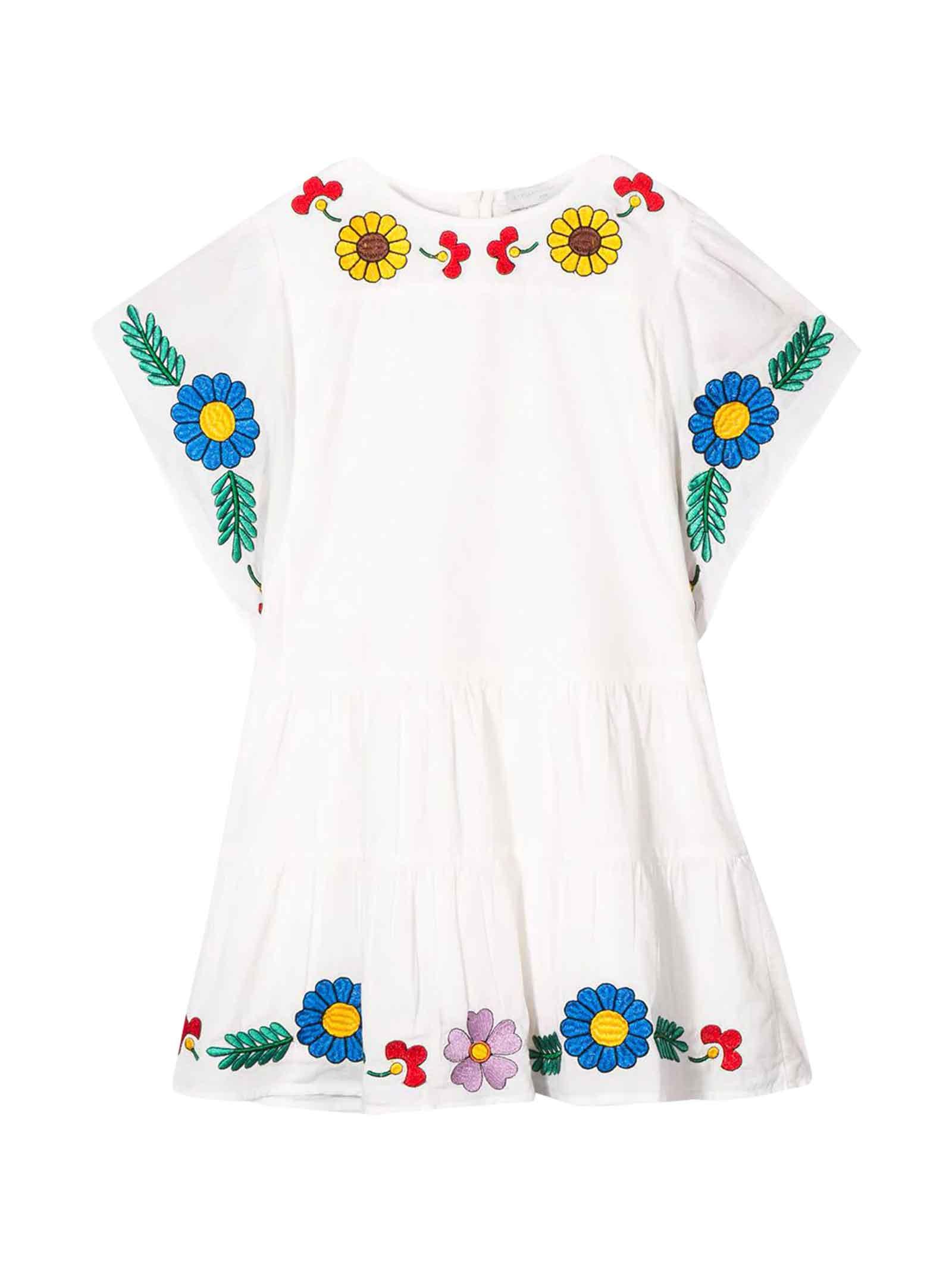 Buy Stella McCartney Kids White Dress Teen online, shop Stella McCartney Kids with free shipping