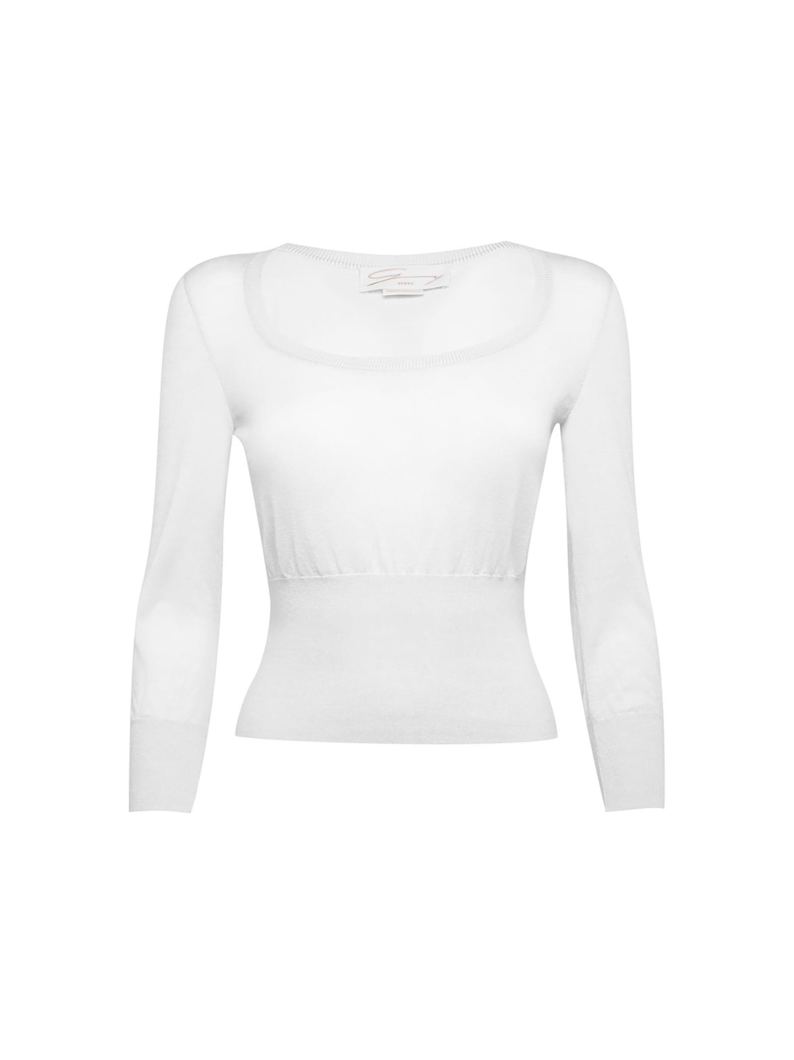 Superlight Cashmere And Silk-blend White Sweater