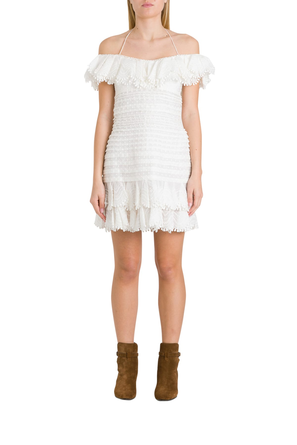 Buy Zimmermann Super Eight Corded Mini Dress online, shop Zimmermann with free shipping