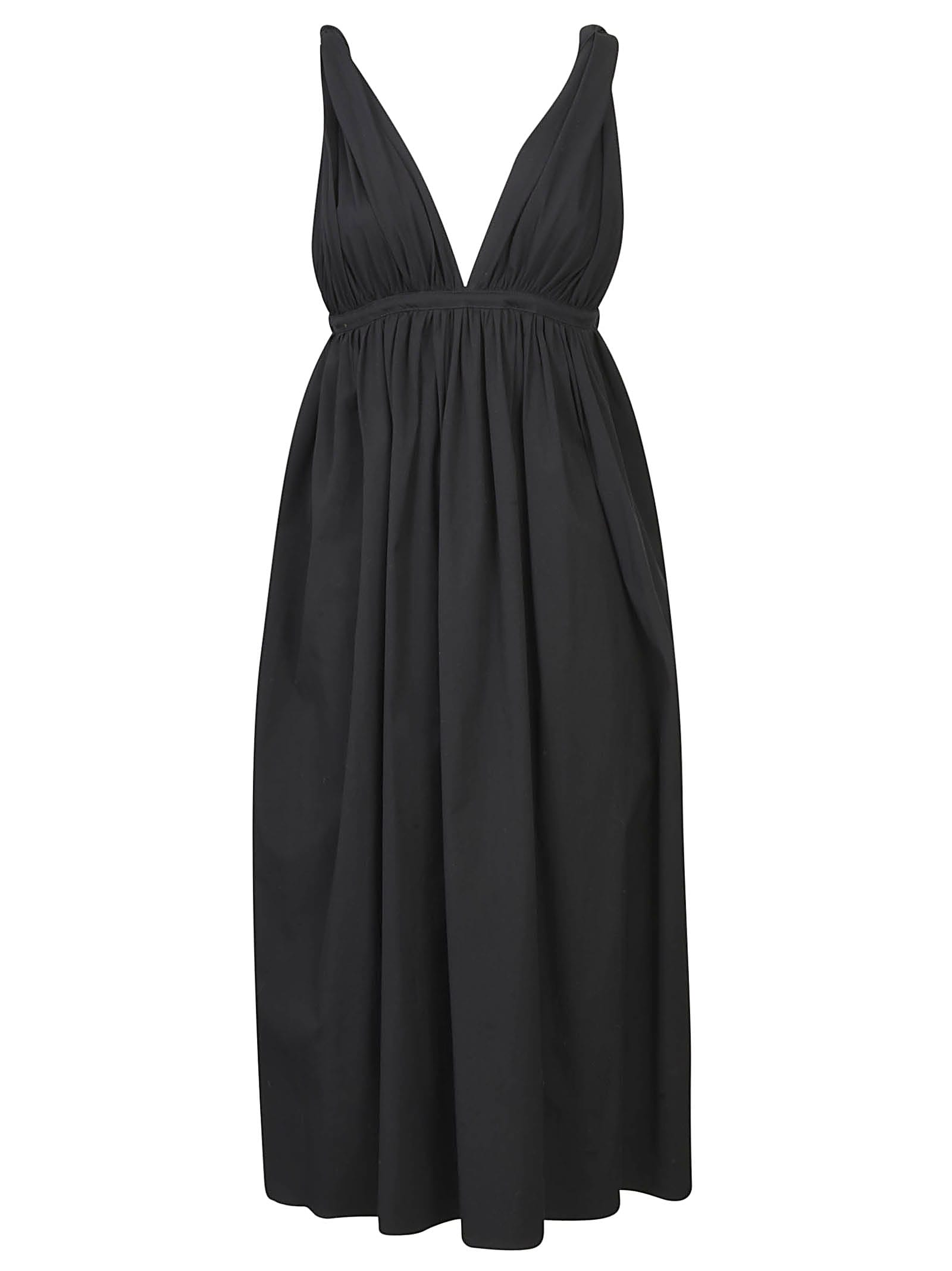 Buy Rochas Flared V-neck Dress online, shop Rochas with free shipping