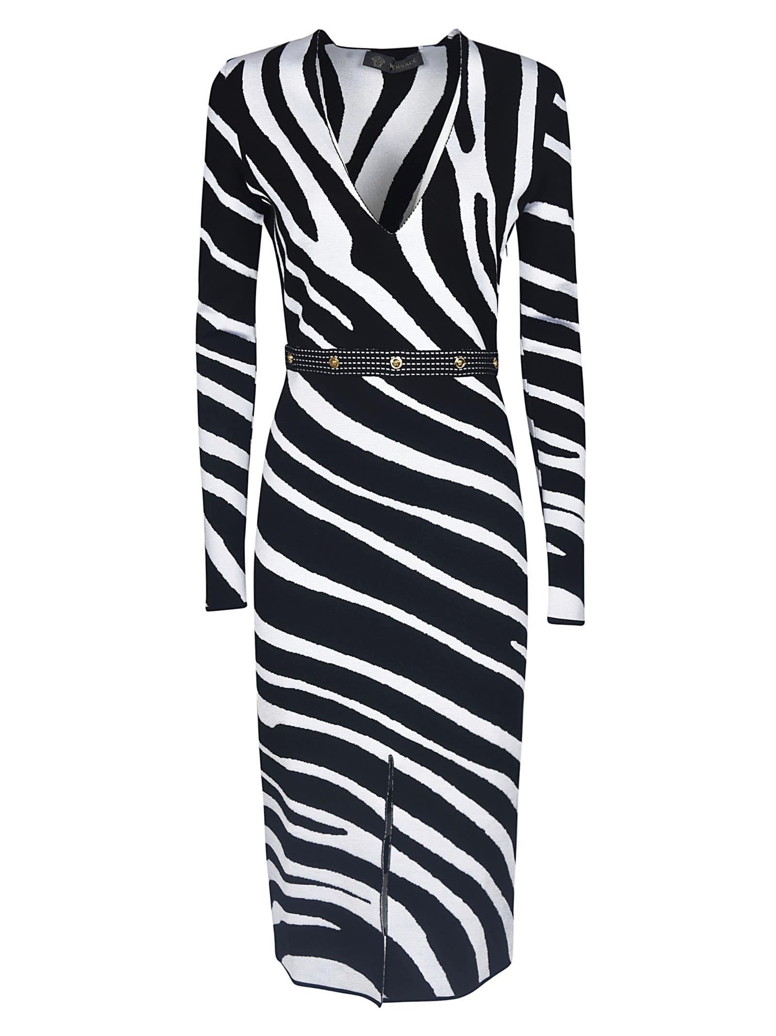 Versace Zebra Printed Dress