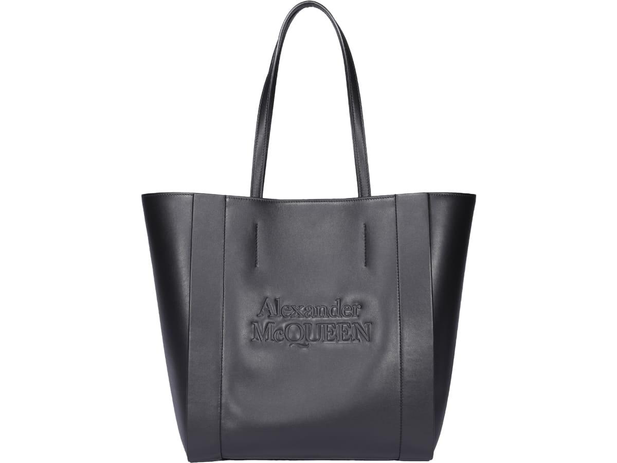 Alexander Mcqueen Signature Shopping Bag In Black