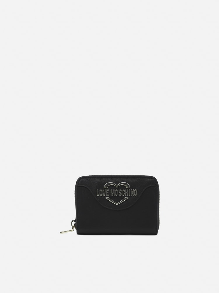 Love Moschino Wallet With Contrasting Logo Detail In Black