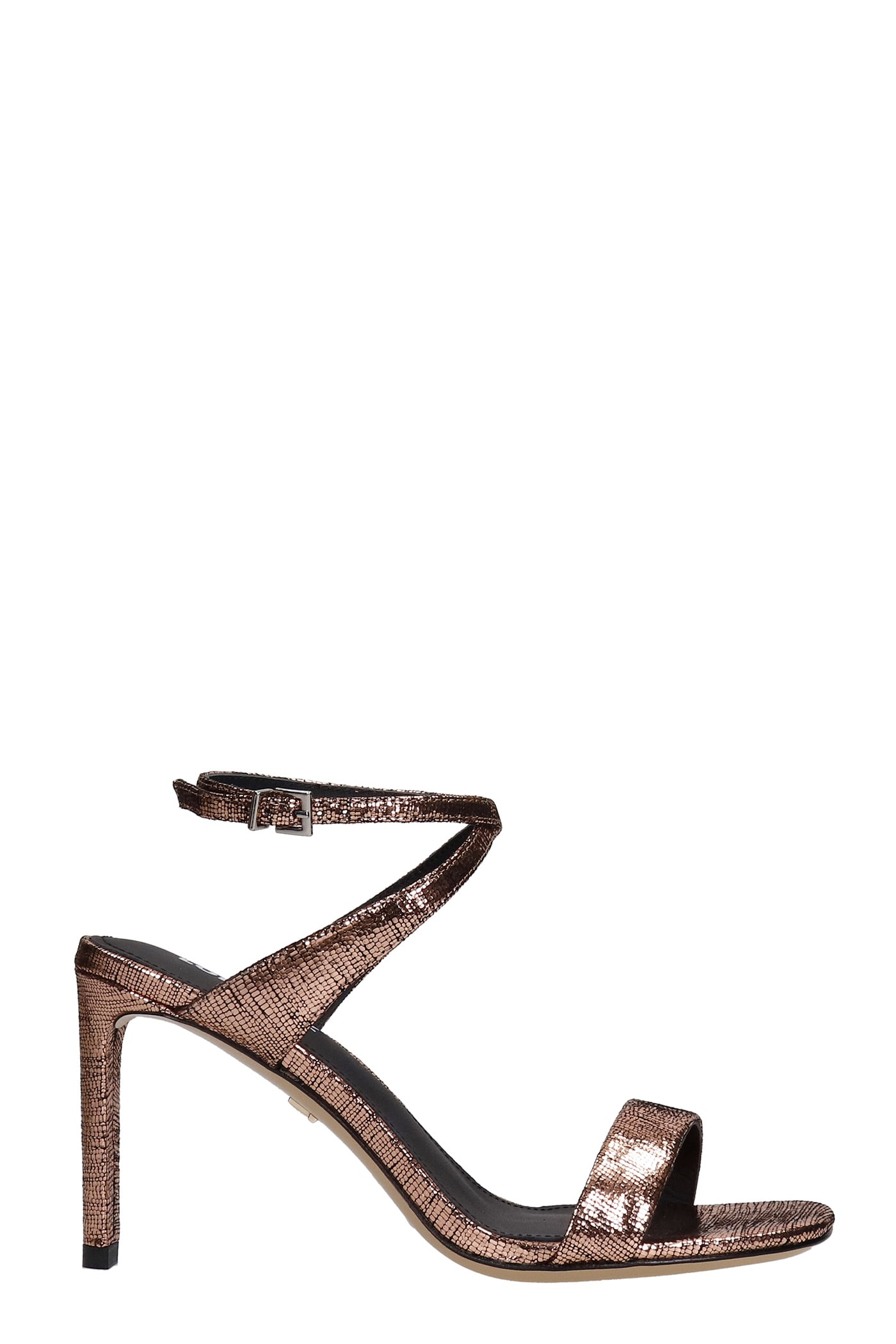 Sandals In Copper Leather