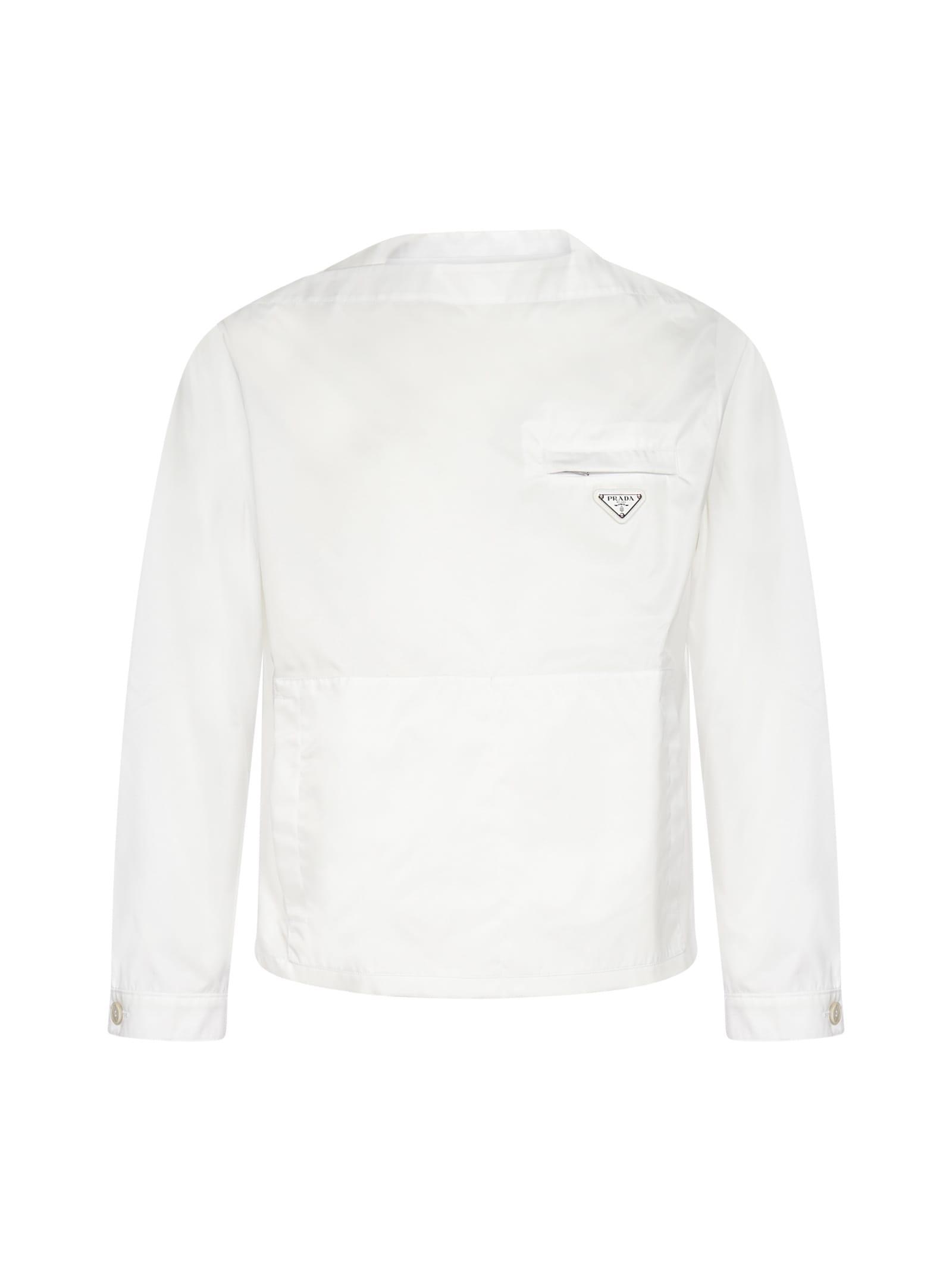 Prada Logo-plaque Re-nylon Jacket