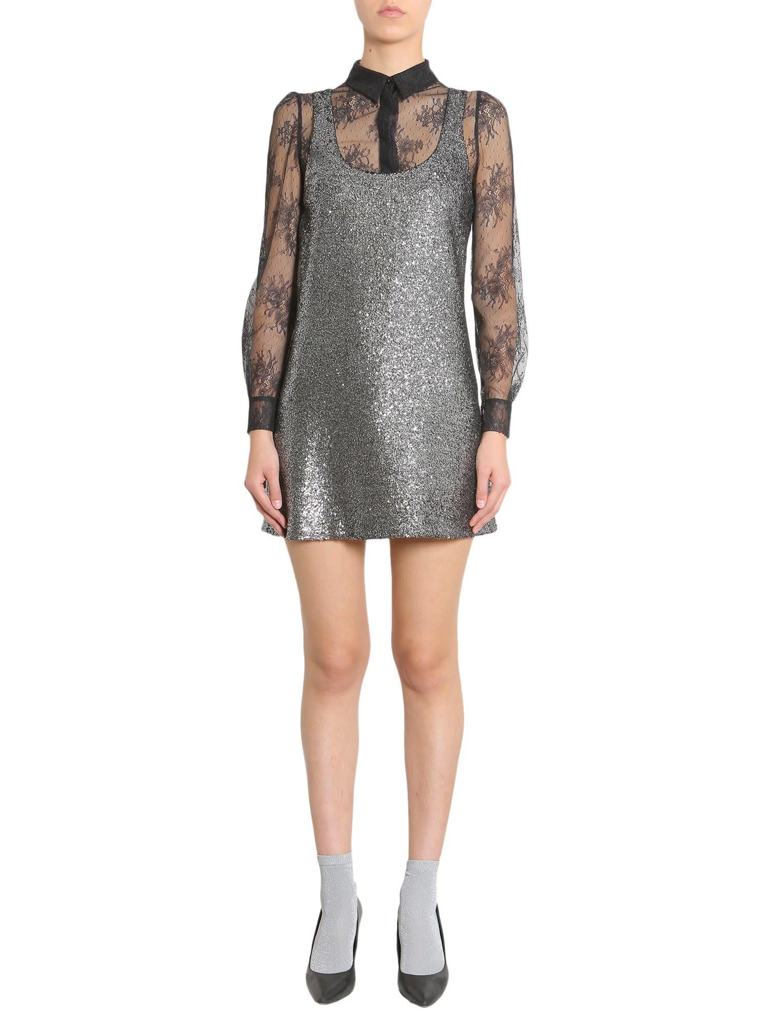 Boutique Moschino Metallic Boucle Dress