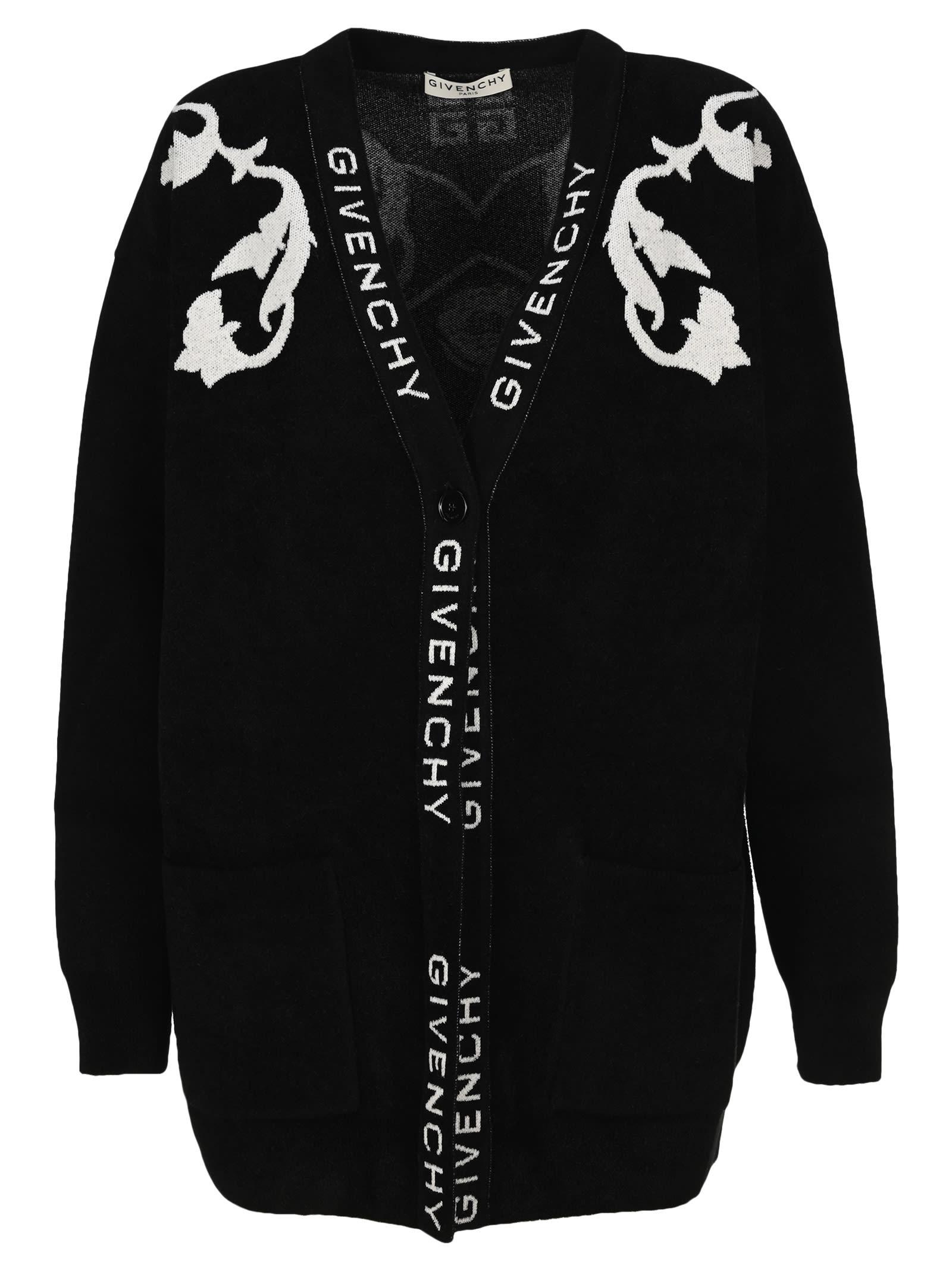 Givenchy INTARSIA-KNIT CARDIGAN