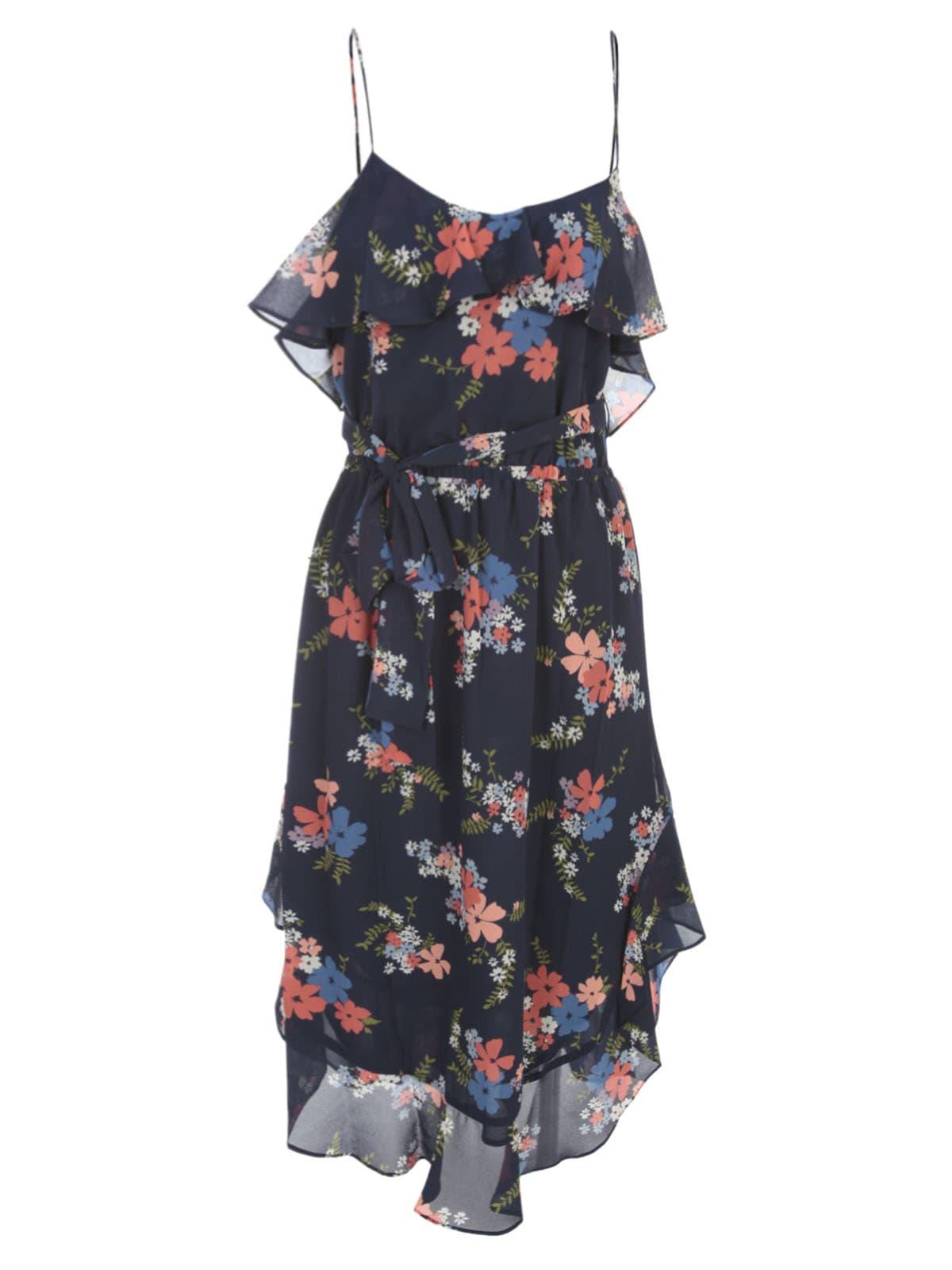 Buy MICHAEL Michael Kors Blmg Bqt Flounce Dress online, shop MICHAEL Michael Kors with free shipping