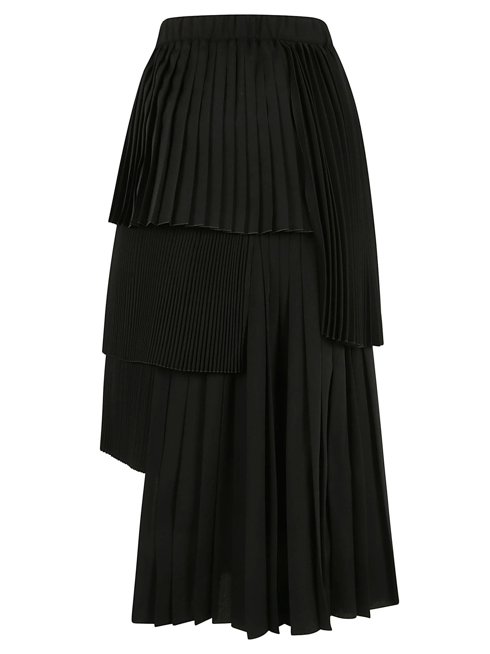 N.21 Pleated Layered Skirt