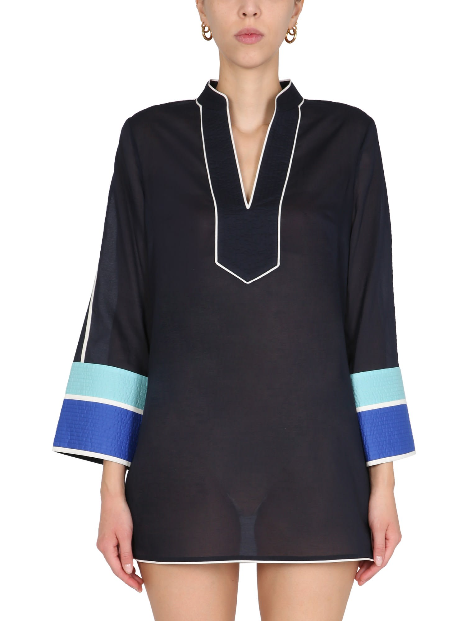 Buy Tory Burch Cotton Voile Caftan online, shop Tory Burch with free shipping