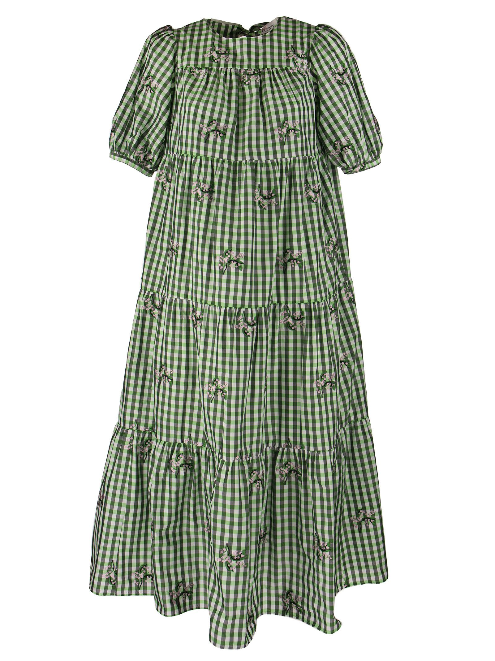 Buy RED Valentino May Lily Motif Taffeta Vichy Dress online, shop RED Valentino with free shipping