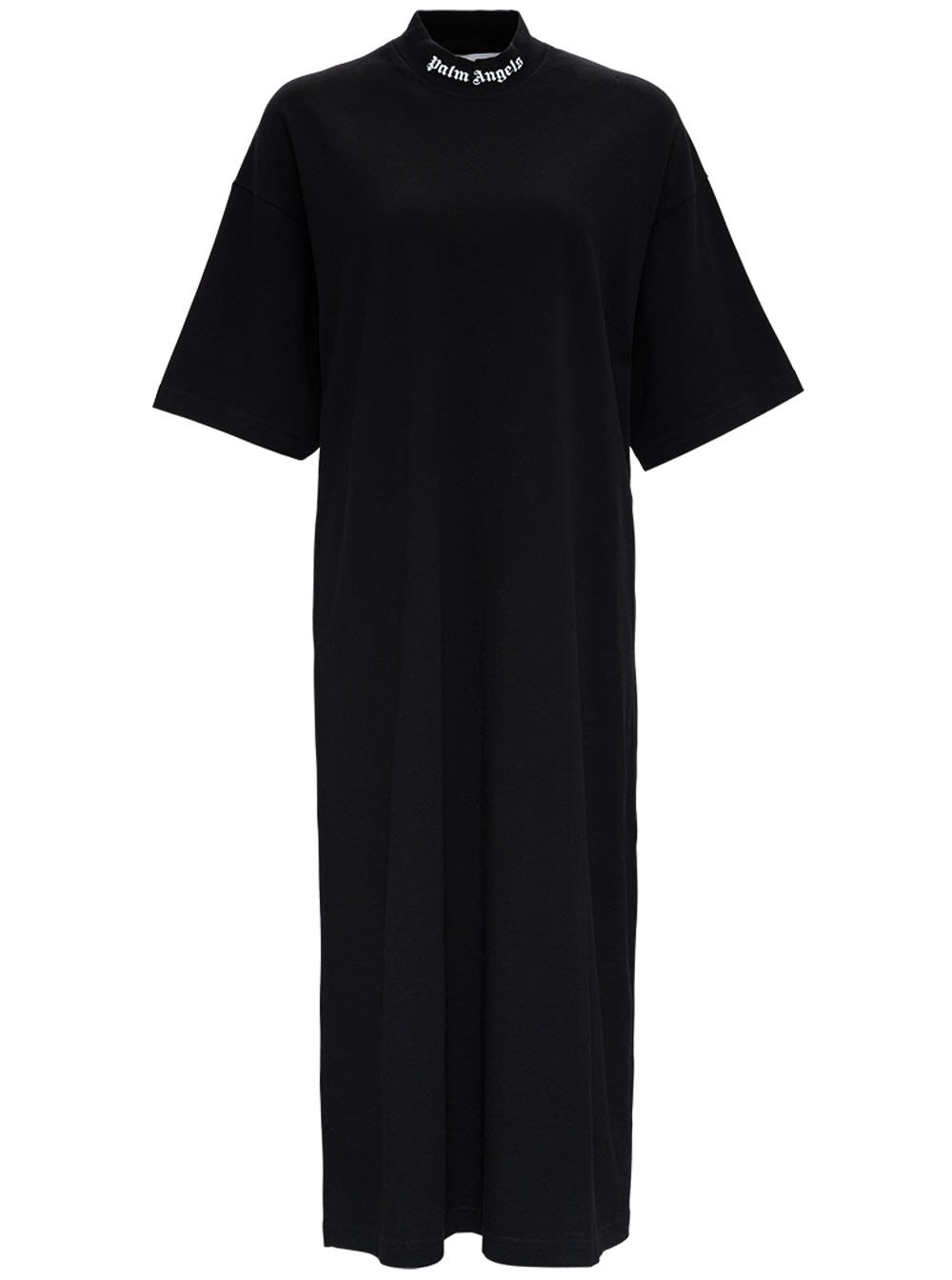 Buy Palm Angels Long Cotton Dress With Logo online, shop Palm Angels with free shipping