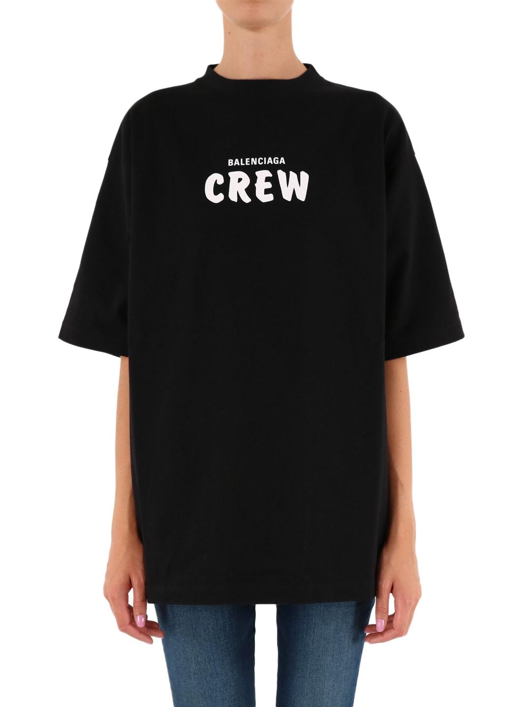 BALENCIAGA T-SHIRT CREW BLACK