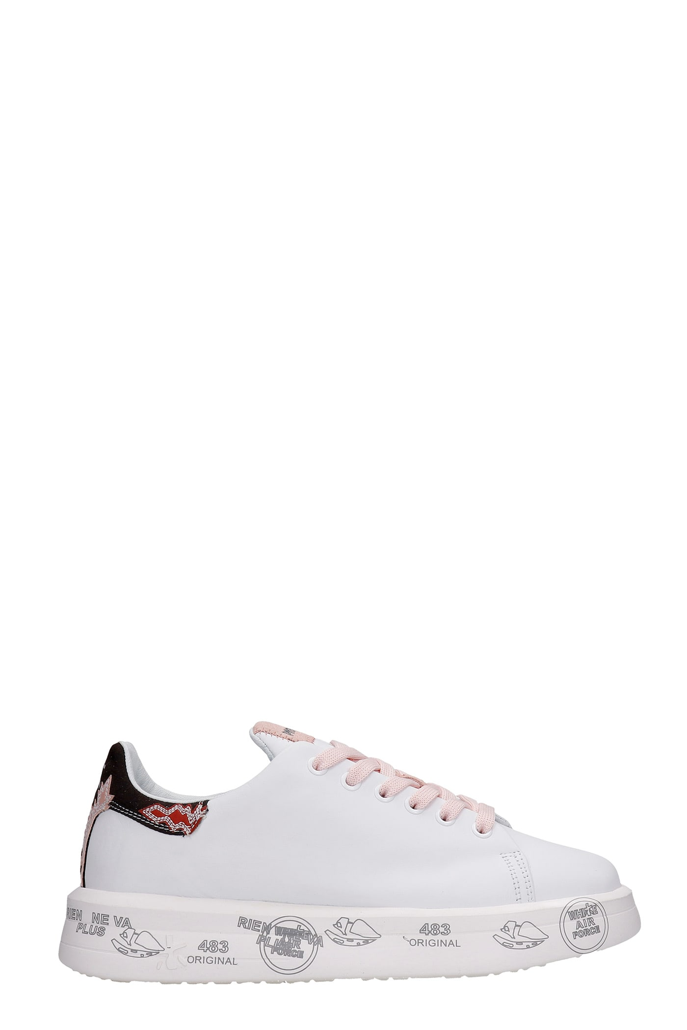 Premiata Suedes BELLE SNEAKERS IN WHITE LEATHER