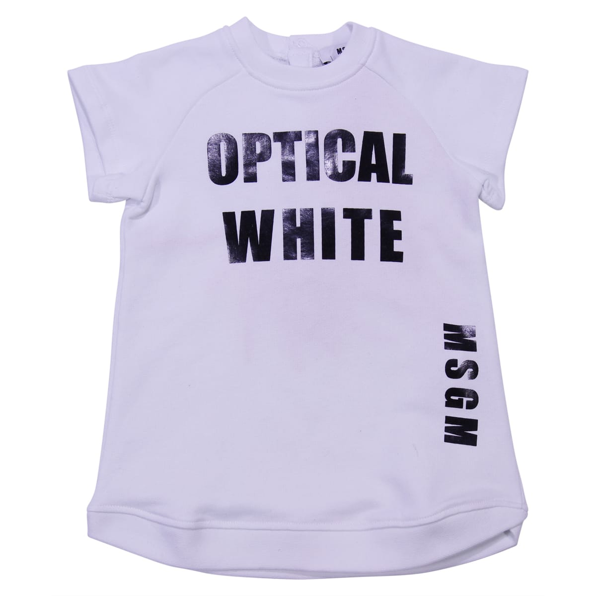 MSGM White Cotton Sweatshirt Dress